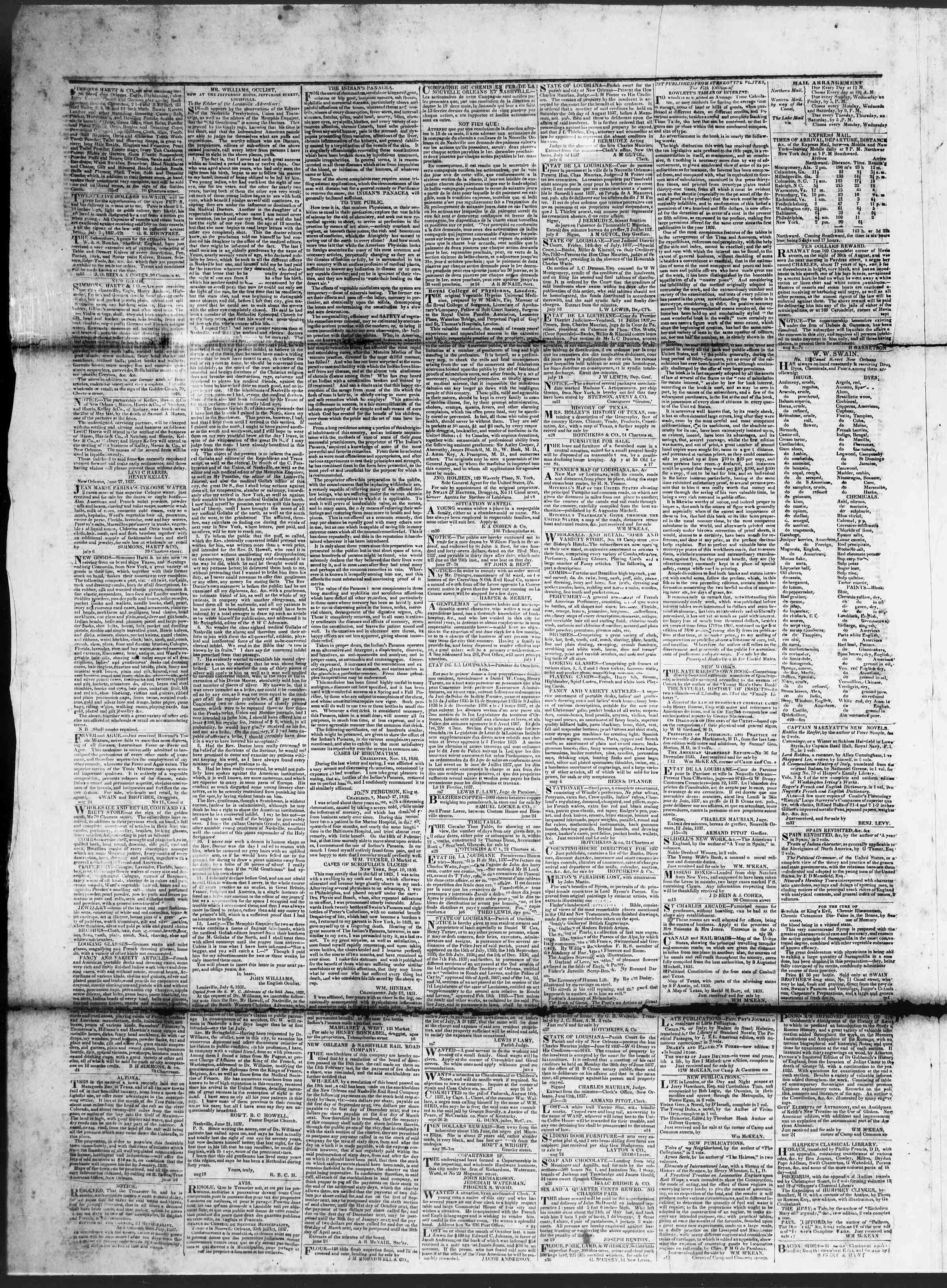 February 7, 1838 Tarihli True American Gazetesi Sayfa 4