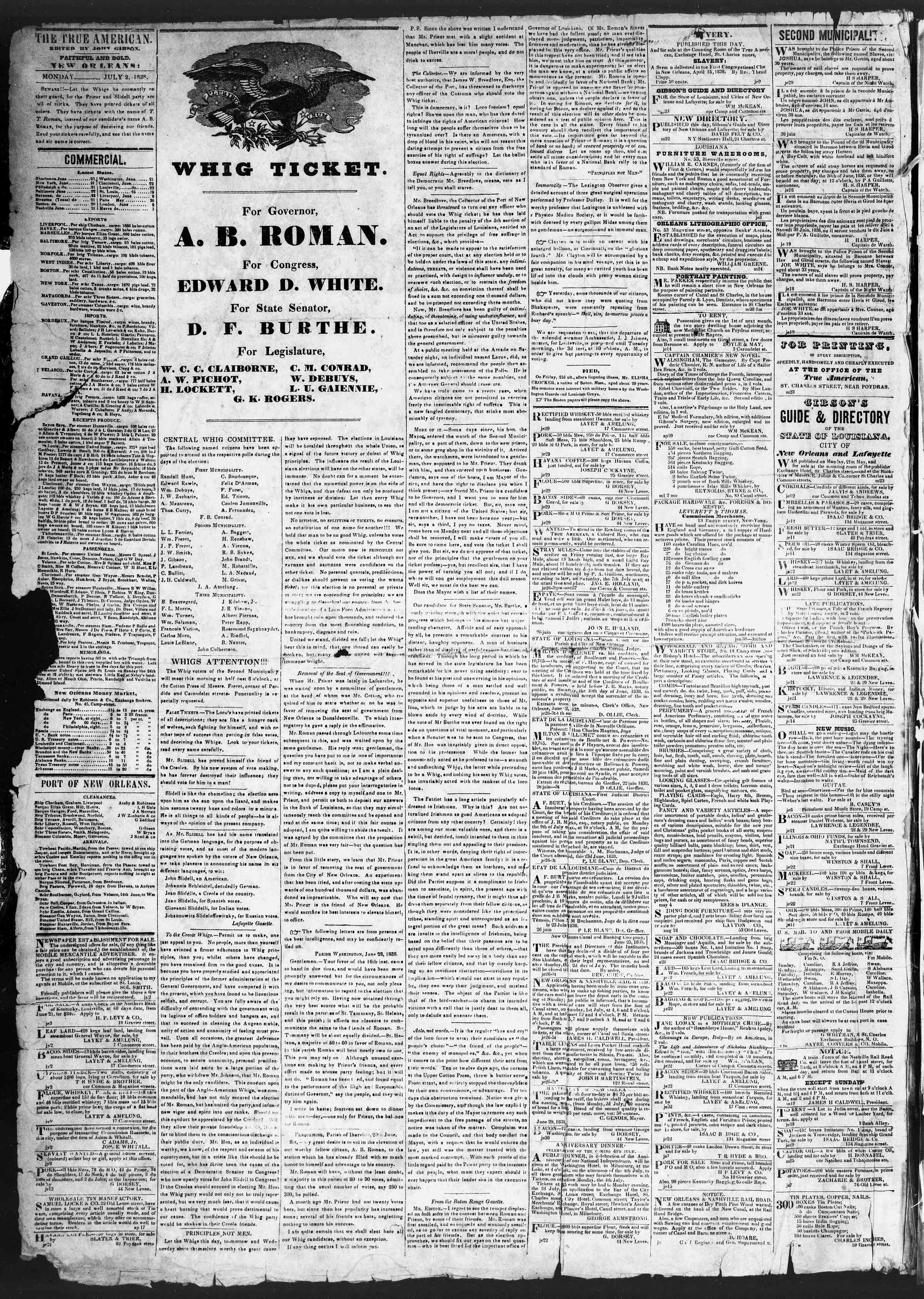 Newspaper of True American dated July 2, 1838 Page 2