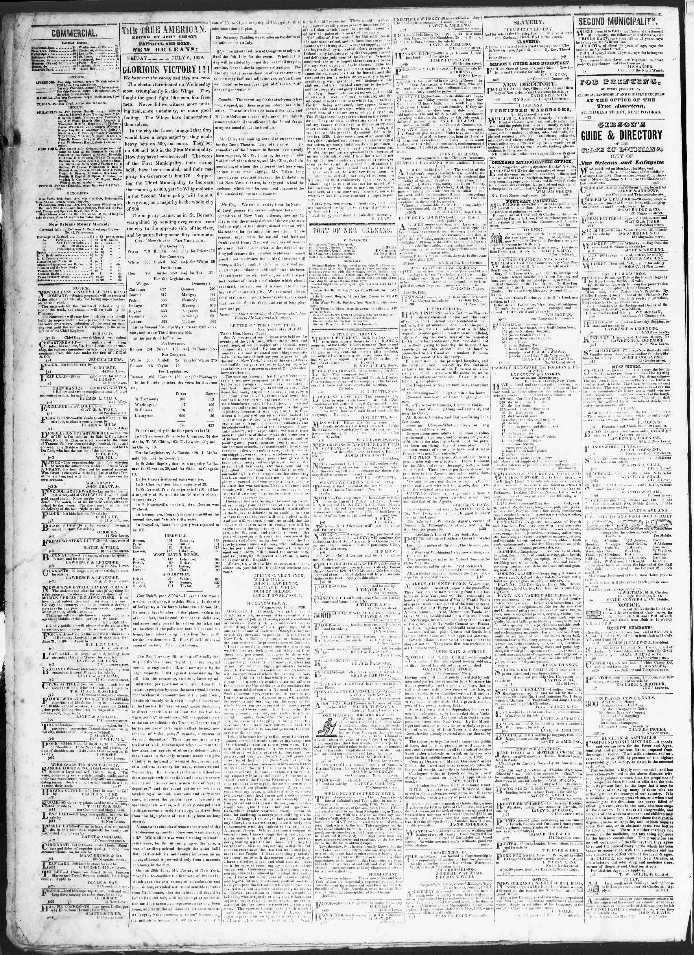 July 6, 1838 Tarihli True American Gazetesi Sayfa 2