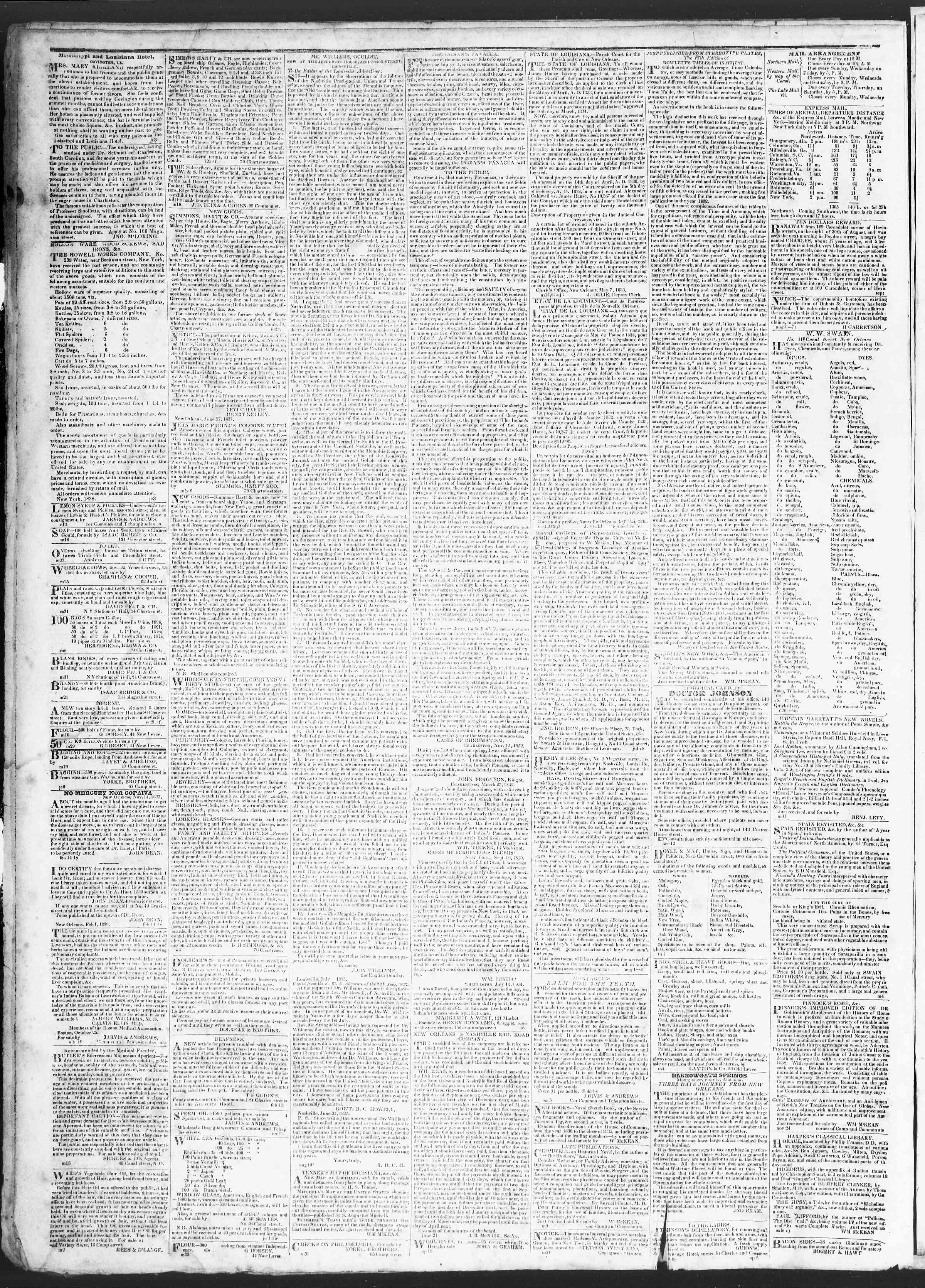 Newspaper of True American dated July 6, 1838 Page 4