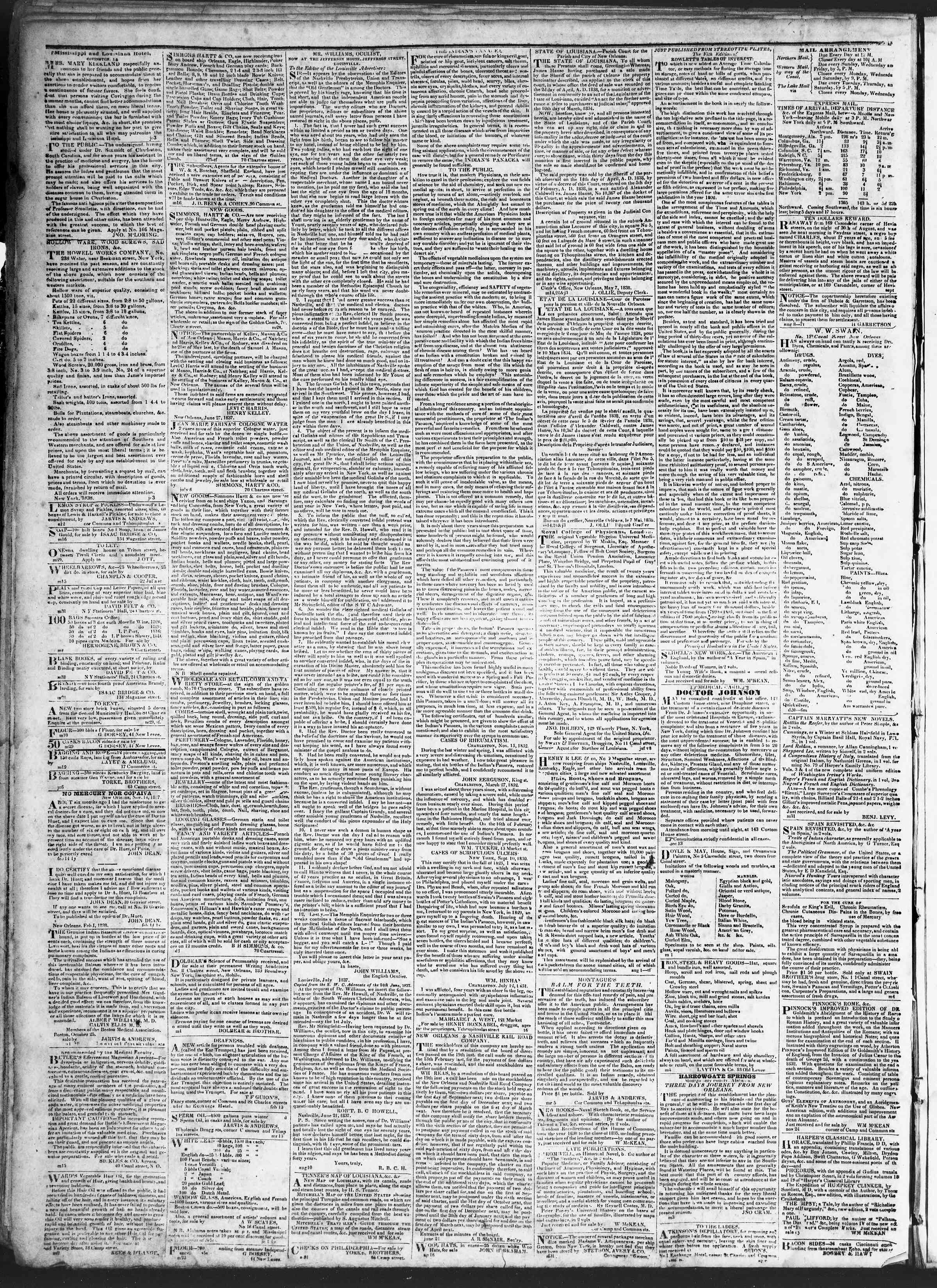July 9, 1838 Tarihli True American Gazetesi Sayfa 4