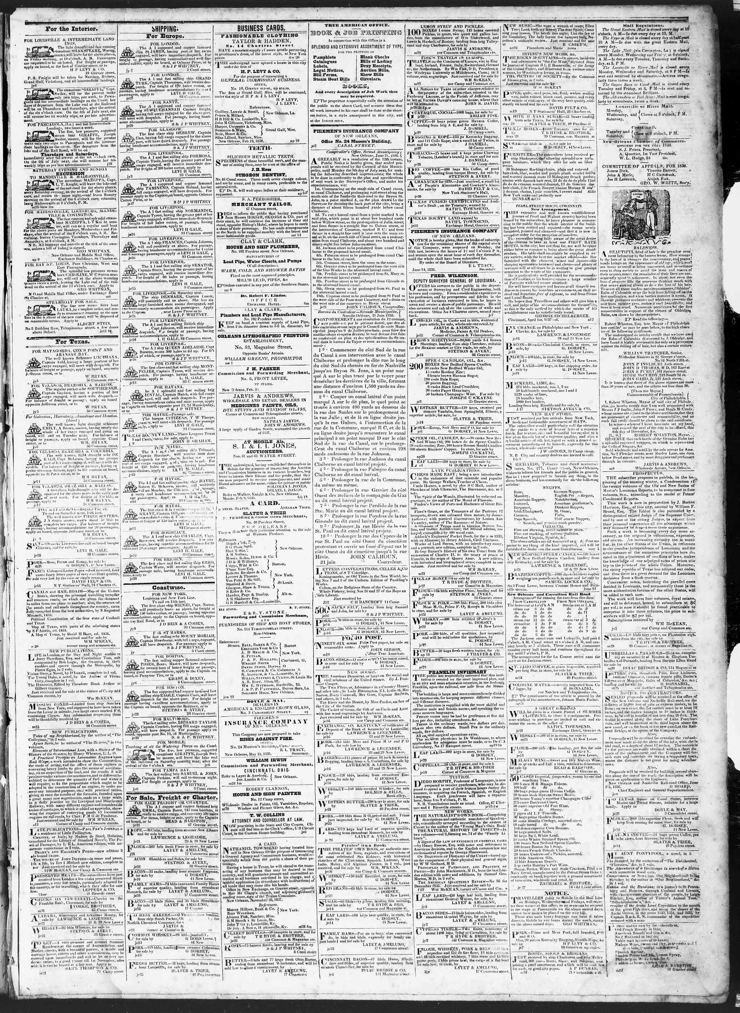 Newspaper of True American dated July 10, 1838 Page 3