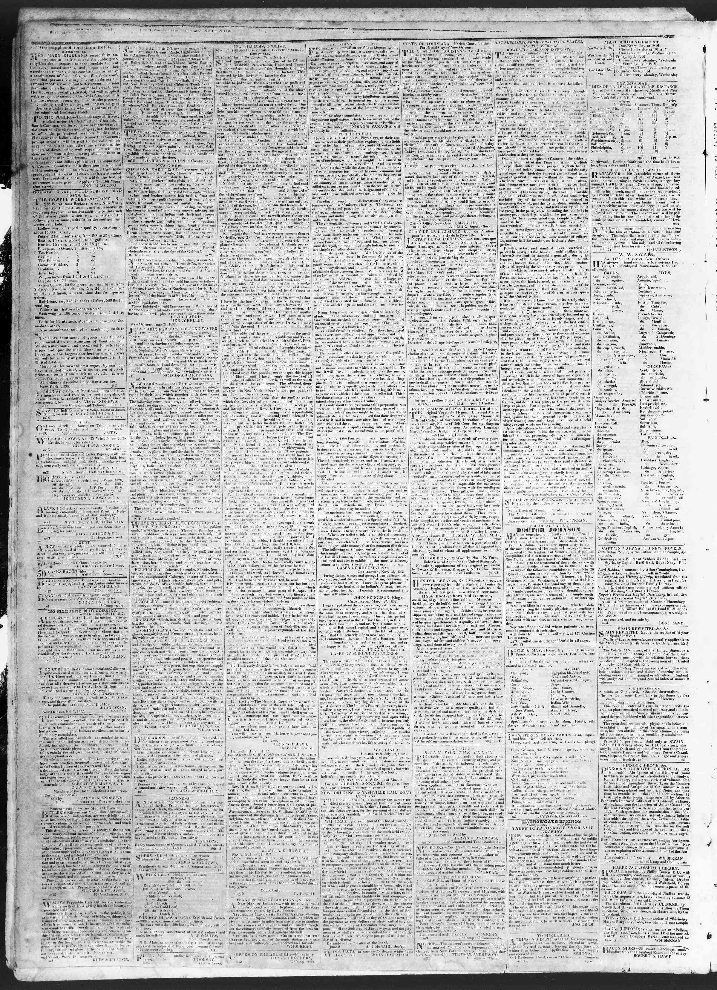 Newspaper of True American dated July 17, 1838 Page 4