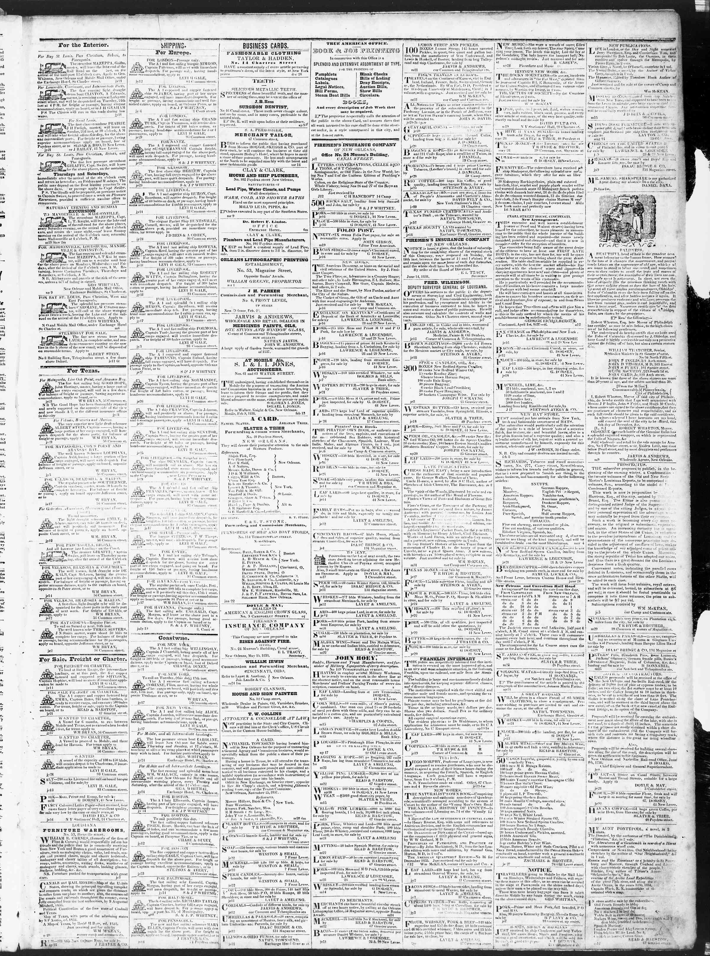 Newspaper of True American dated July 24, 1838 Page 3