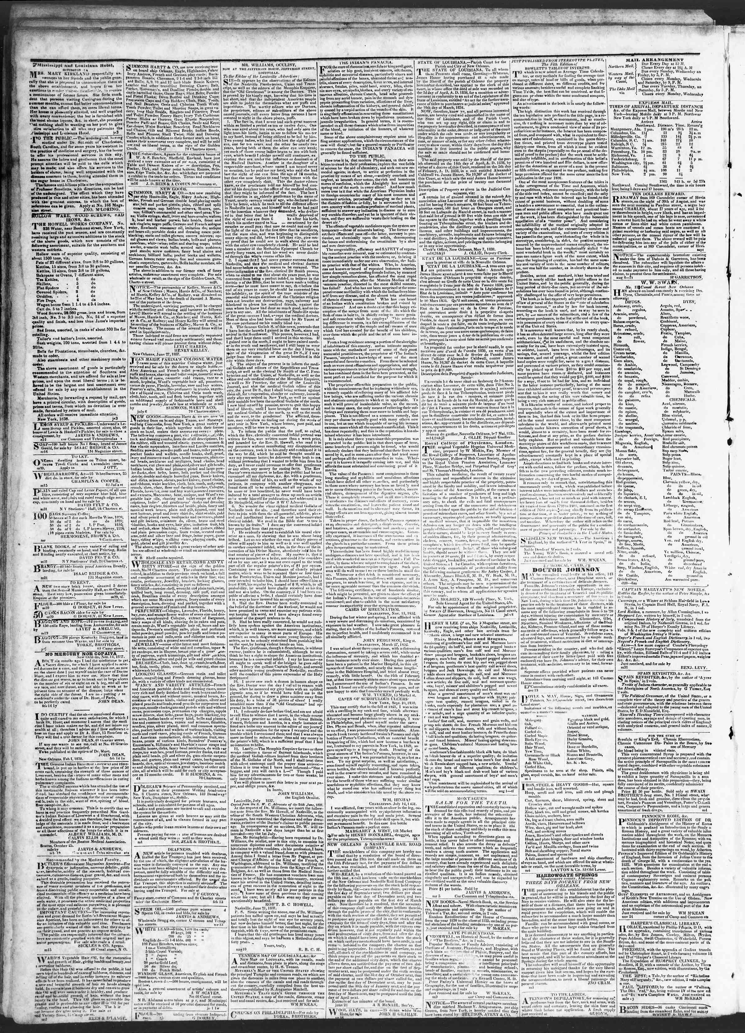 July 26, 1838 Tarihli True American Gazetesi Sayfa 4