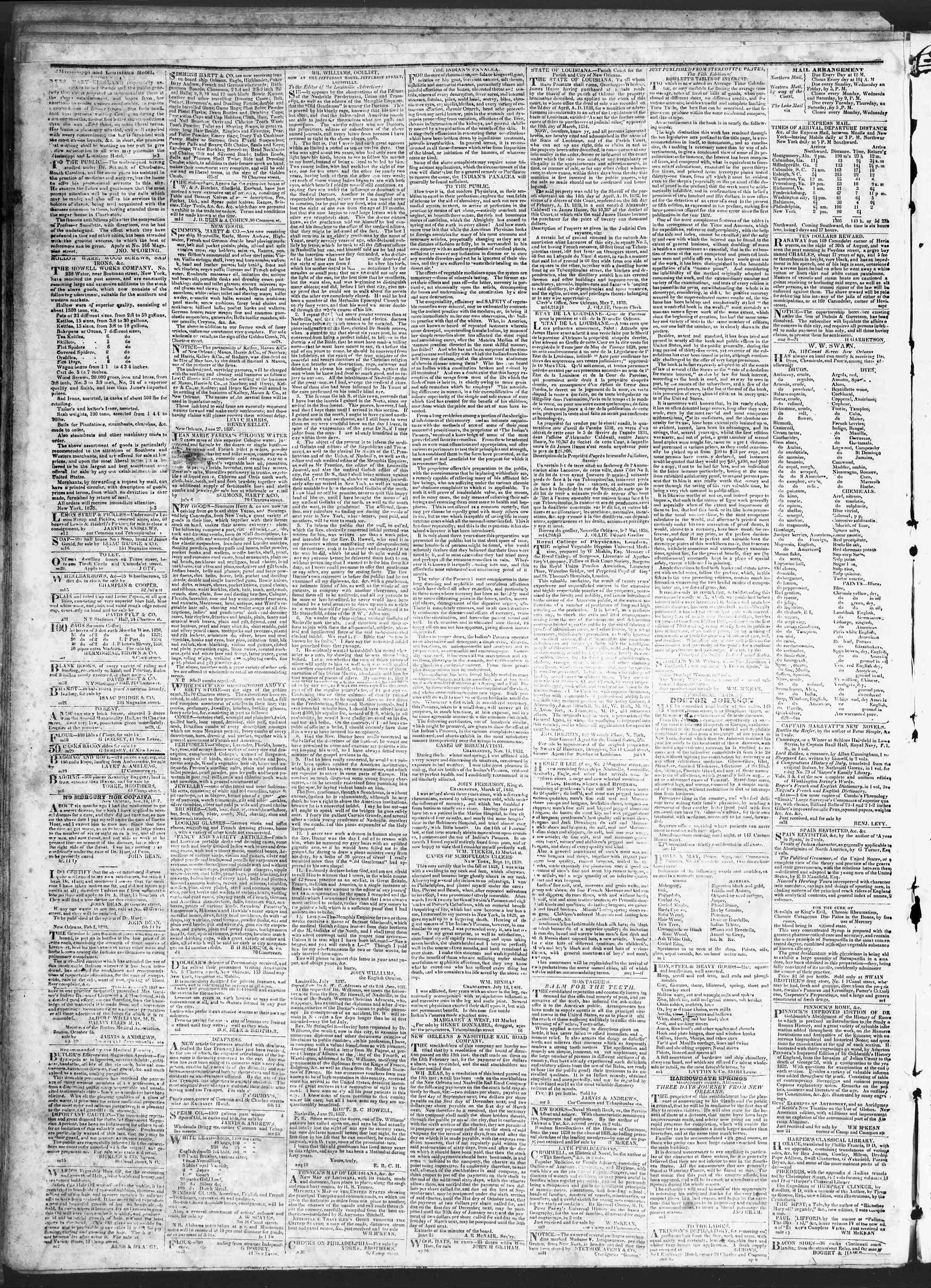 July 28, 1838 Tarihli True American Gazetesi Sayfa 4