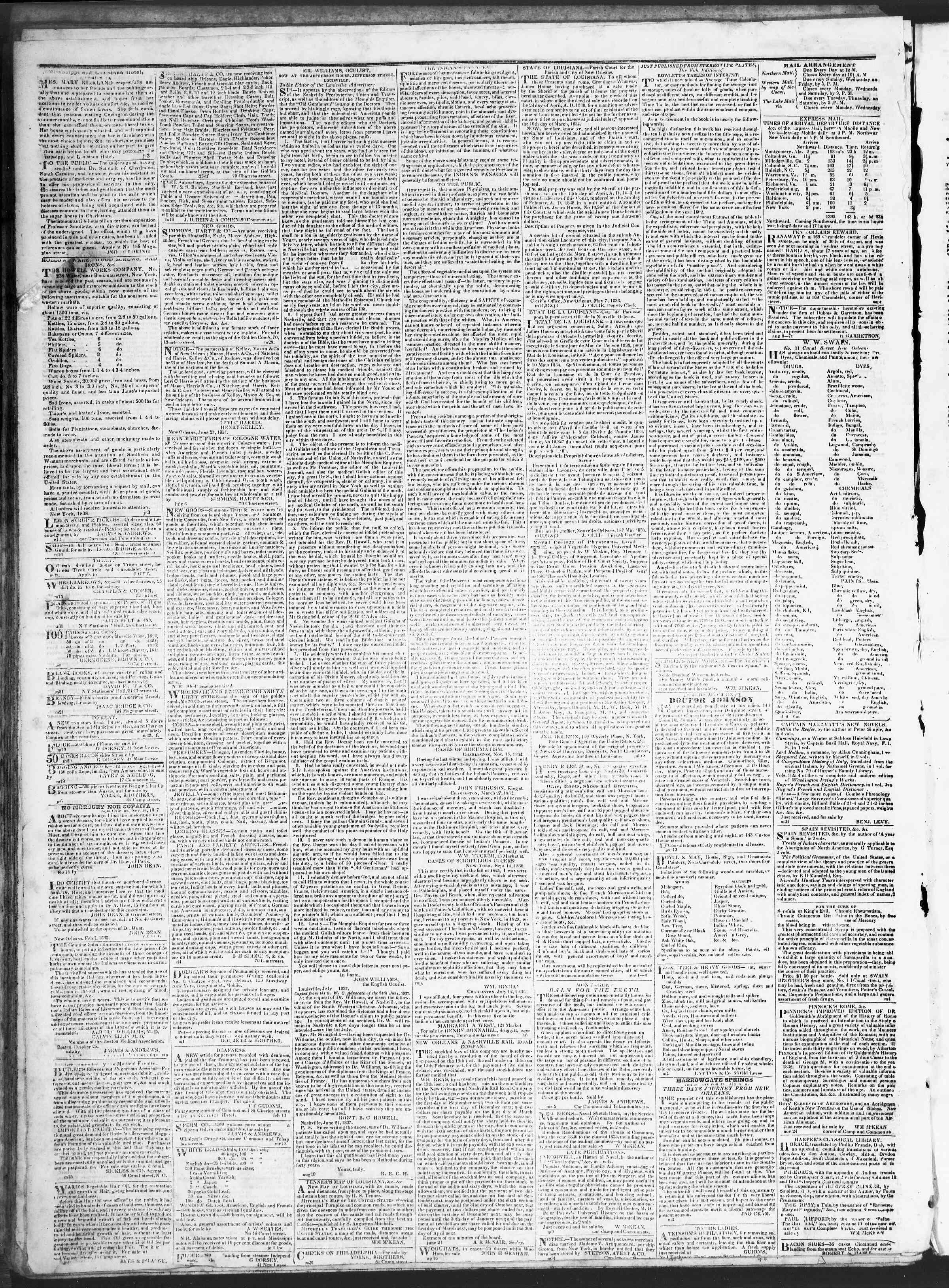 July 31, 1838 Tarihli True American Gazetesi Sayfa 4