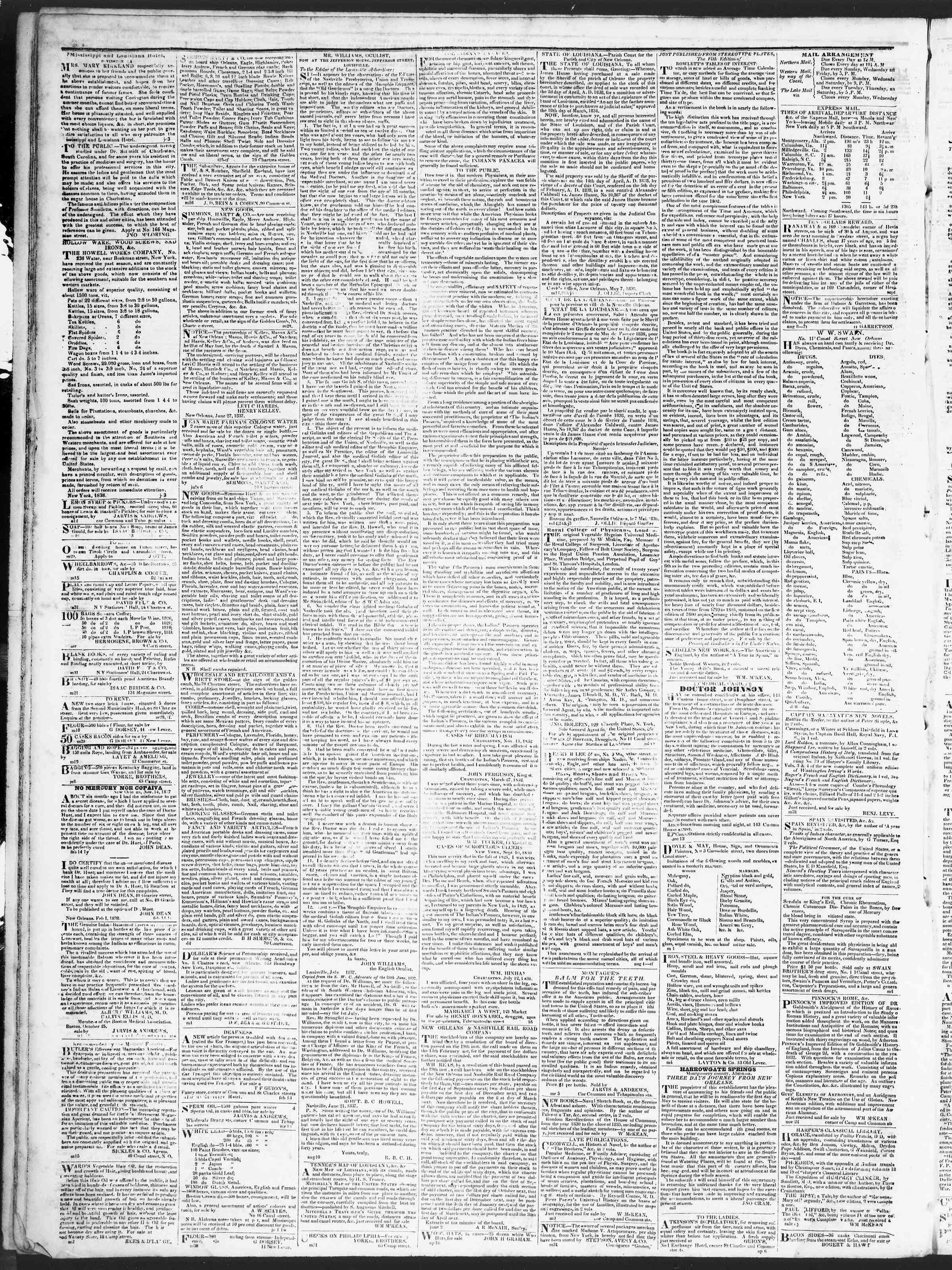 August 11, 1838 Tarihli True American Gazetesi Sayfa 4