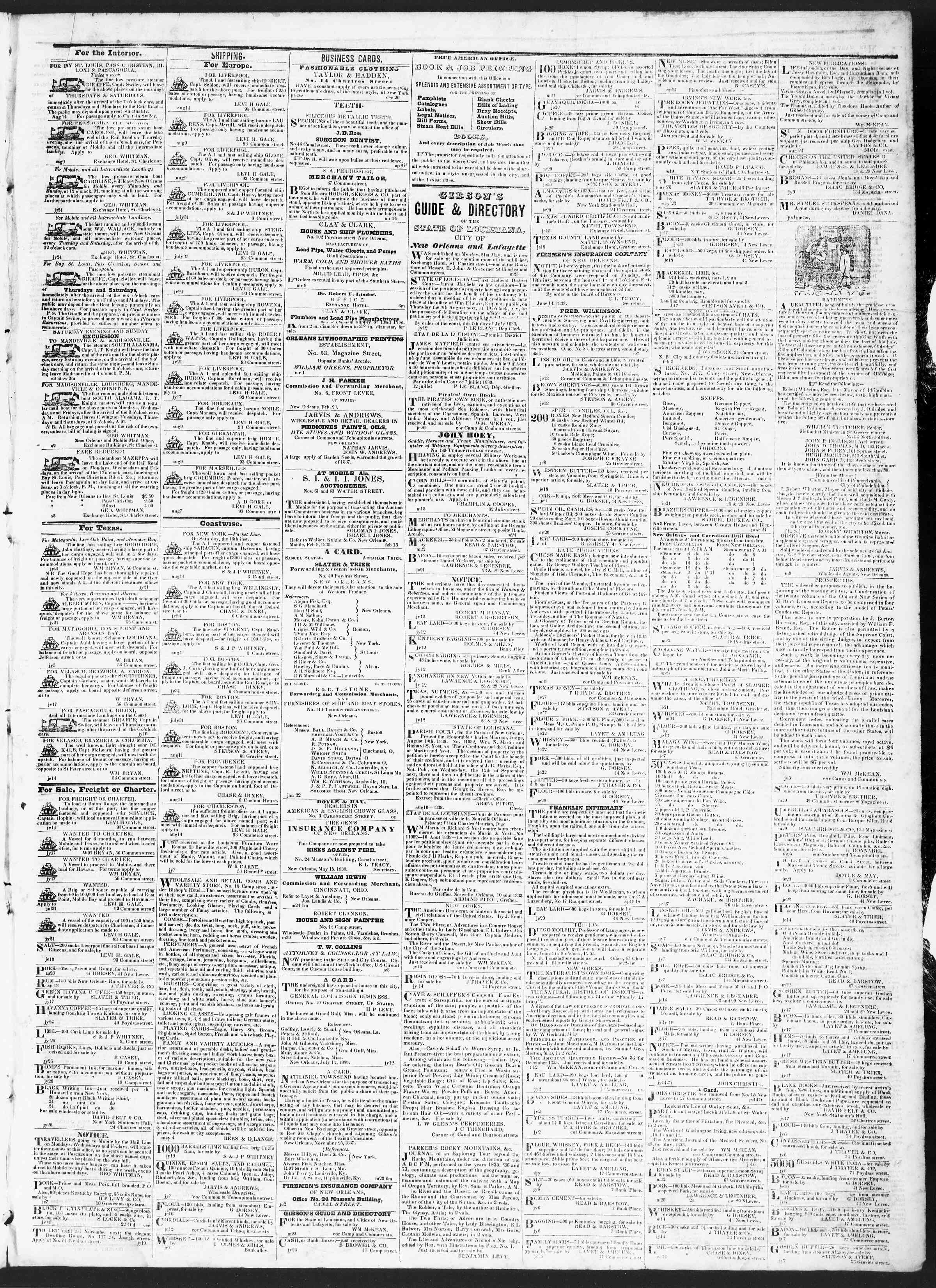 Newspaper of True American dated August 14, 1838 Page 3