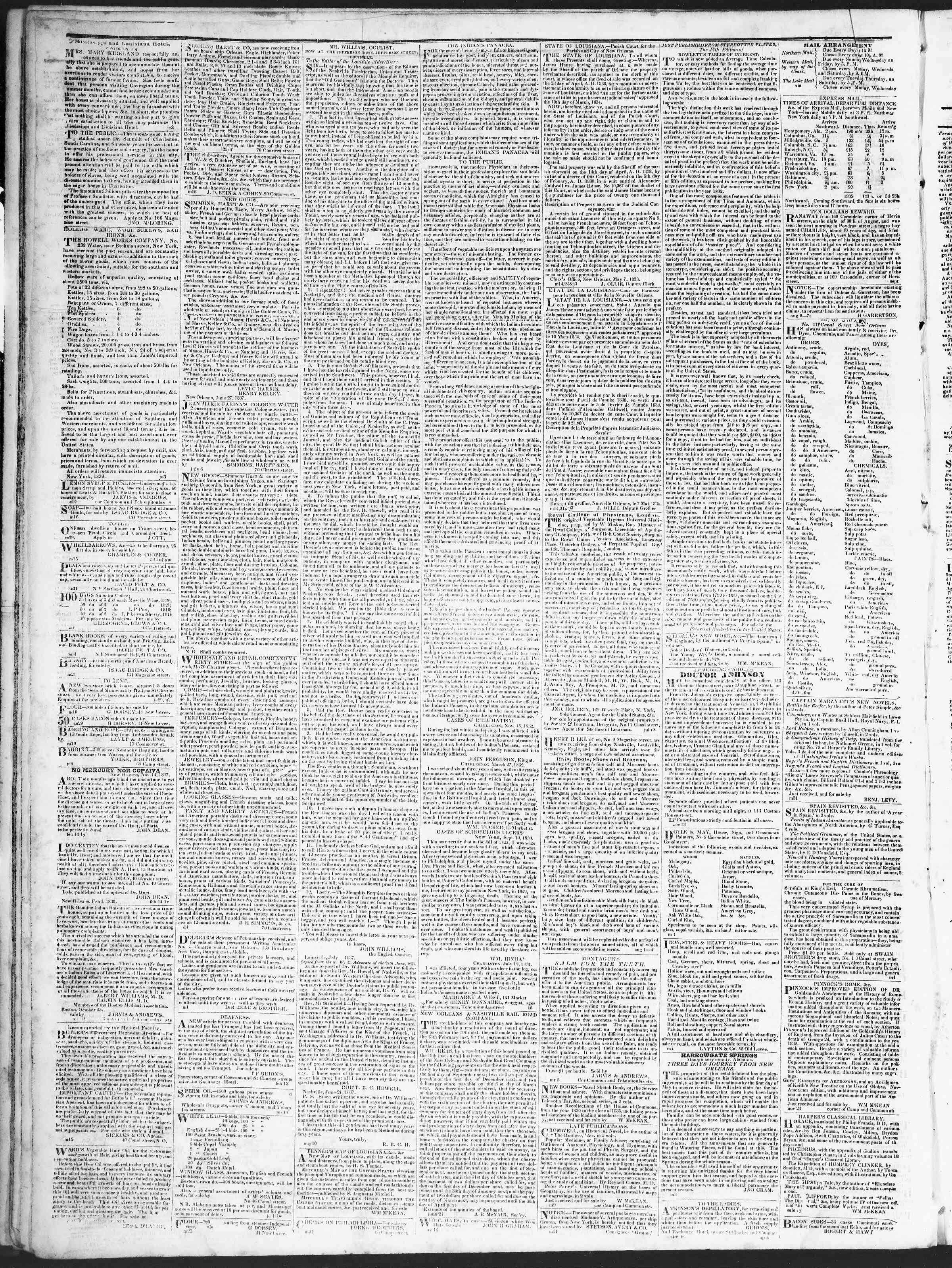 Newspaper of True American dated August 14, 1838 Page 4