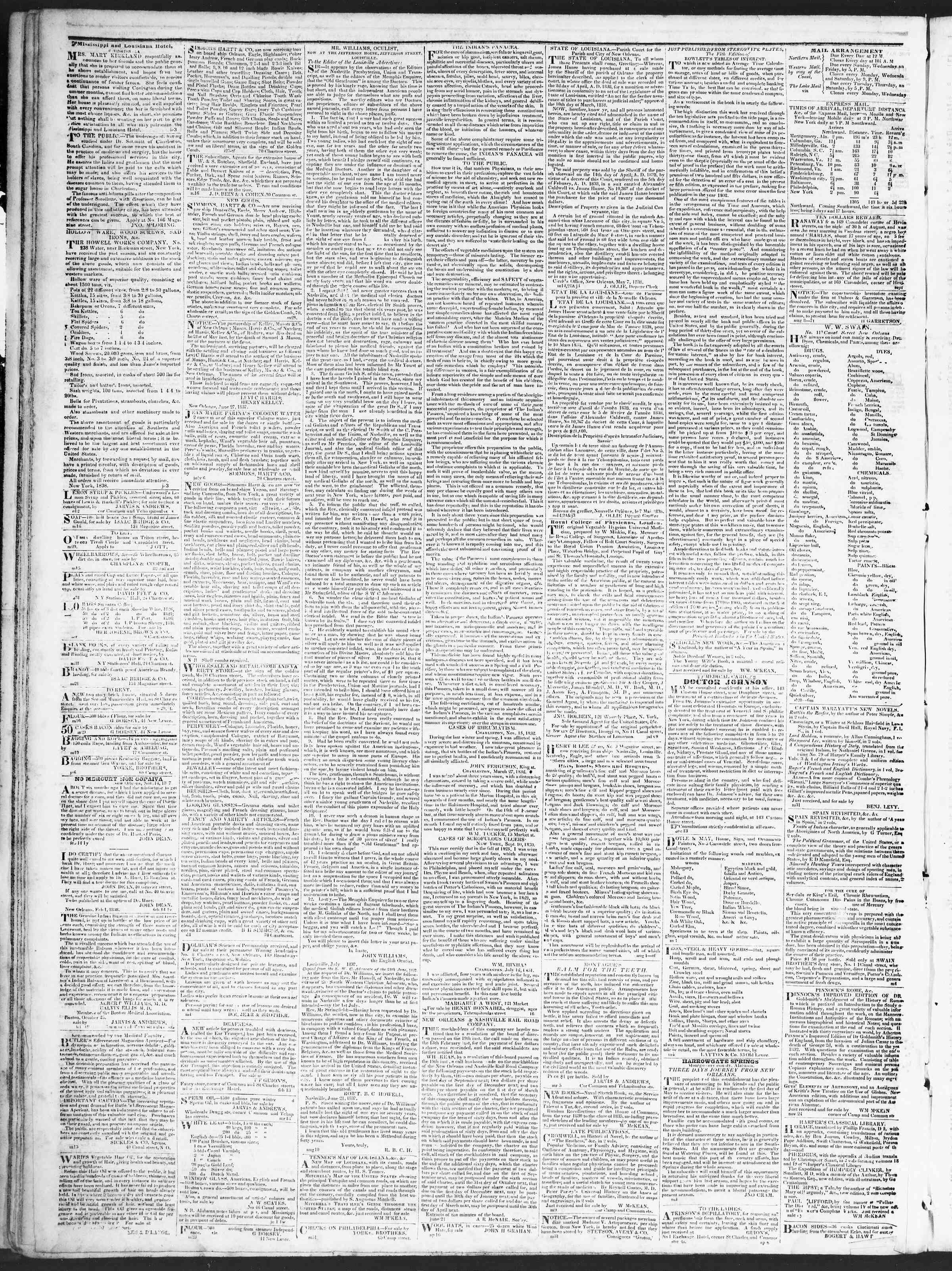 August 16, 1838 Tarihli True American Gazetesi Sayfa 4