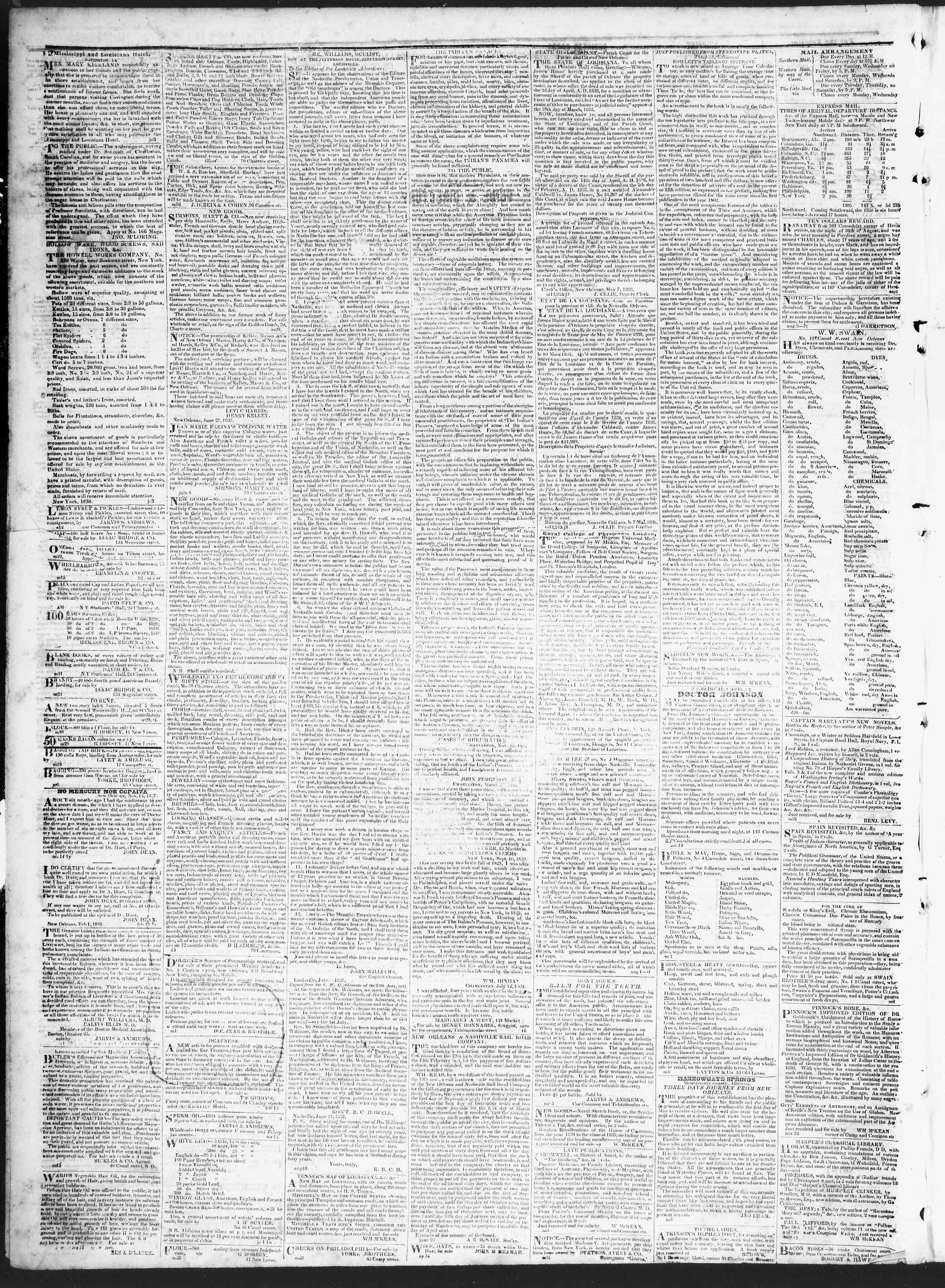 August 21, 1838 Tarihli True American Gazetesi Sayfa 4