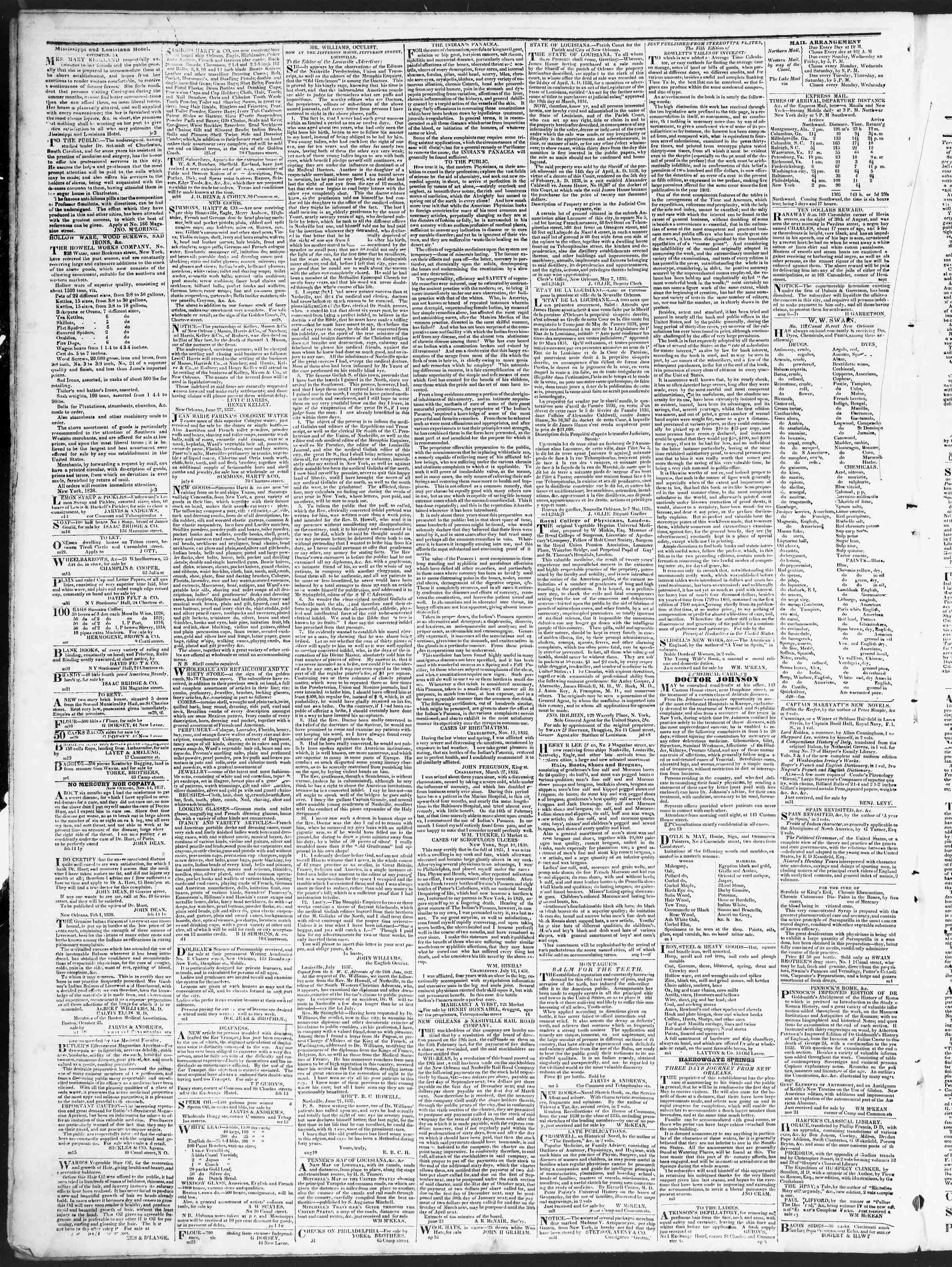 August 23, 1838 Tarihli True American Gazetesi Sayfa 4