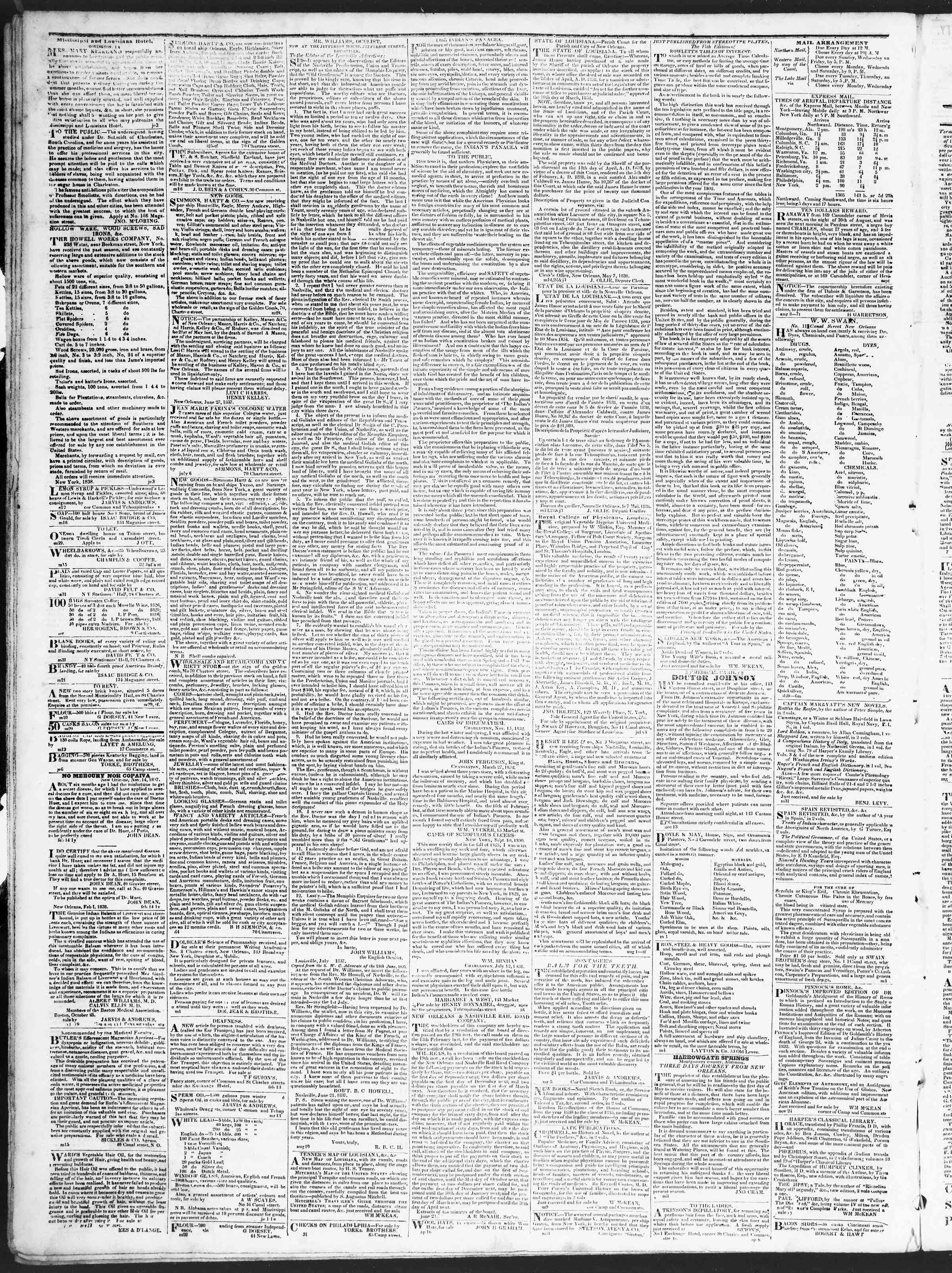 Newspaper of True American dated August 25, 1838 Page 4