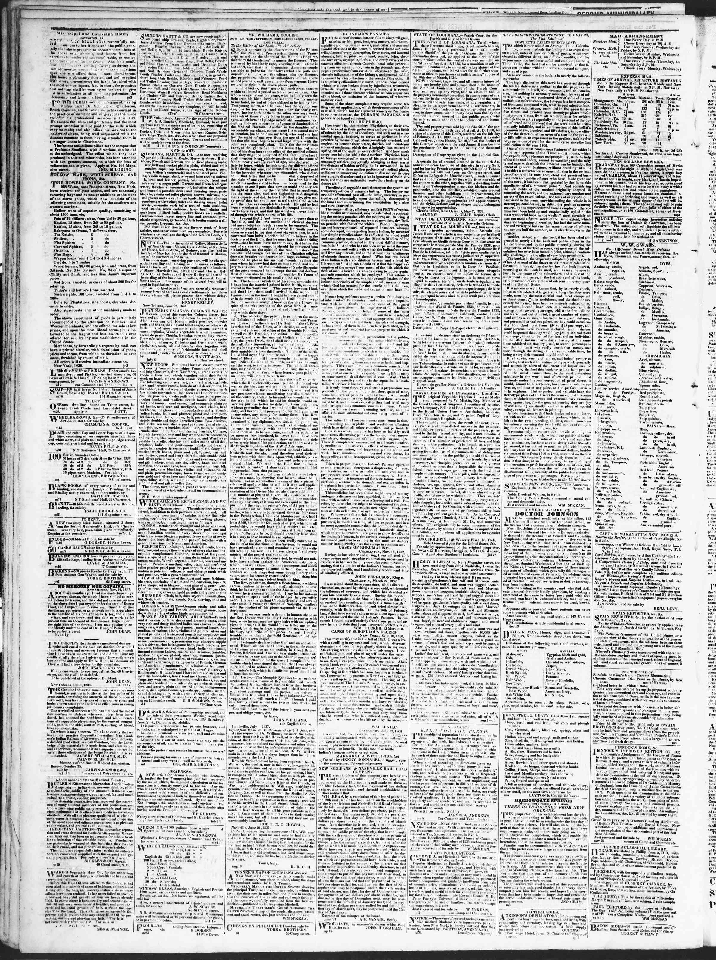 September 4, 1838 Tarihli True American Gazetesi Sayfa 4