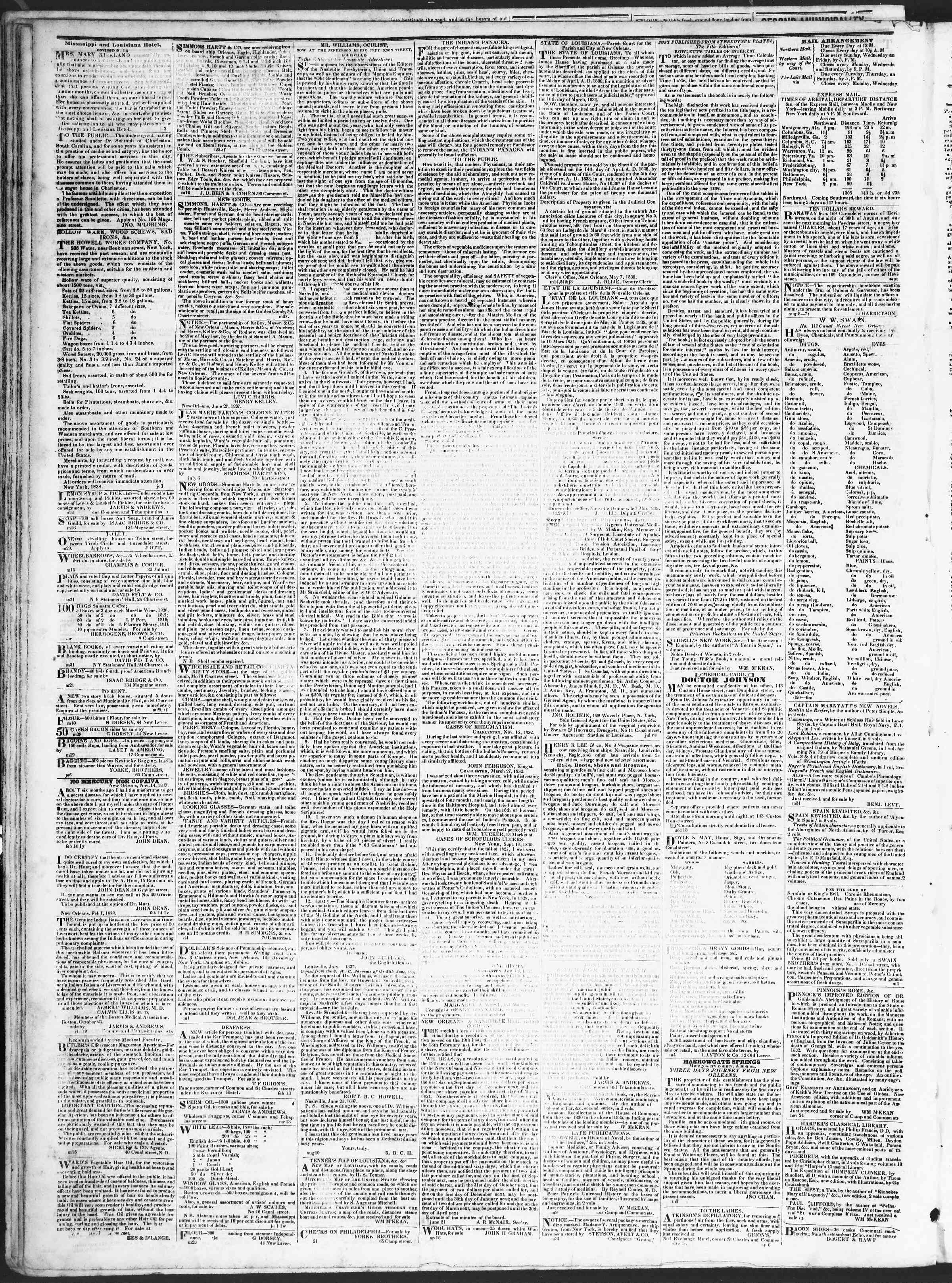 Newspaper of True American dated September 6, 1838 Page 4