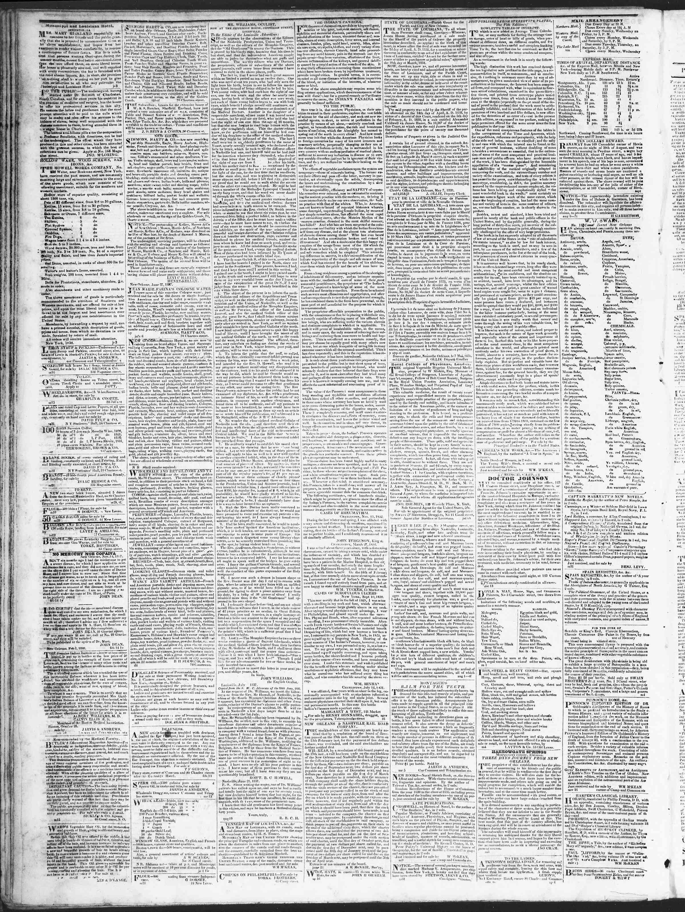 September 8, 1838 Tarihli True American Gazetesi Sayfa 4