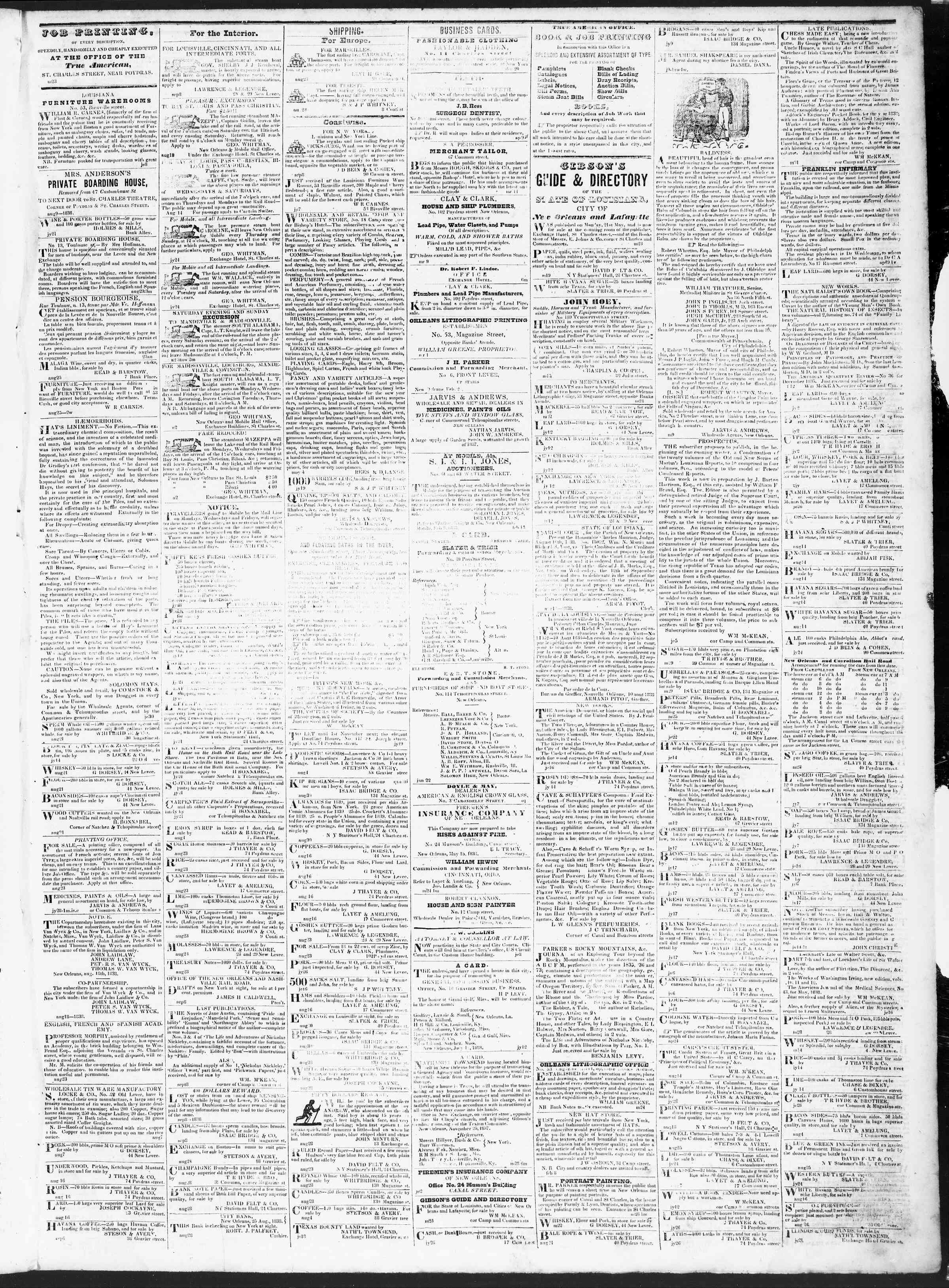Newspaper of True American dated September 11, 1838 Page 3