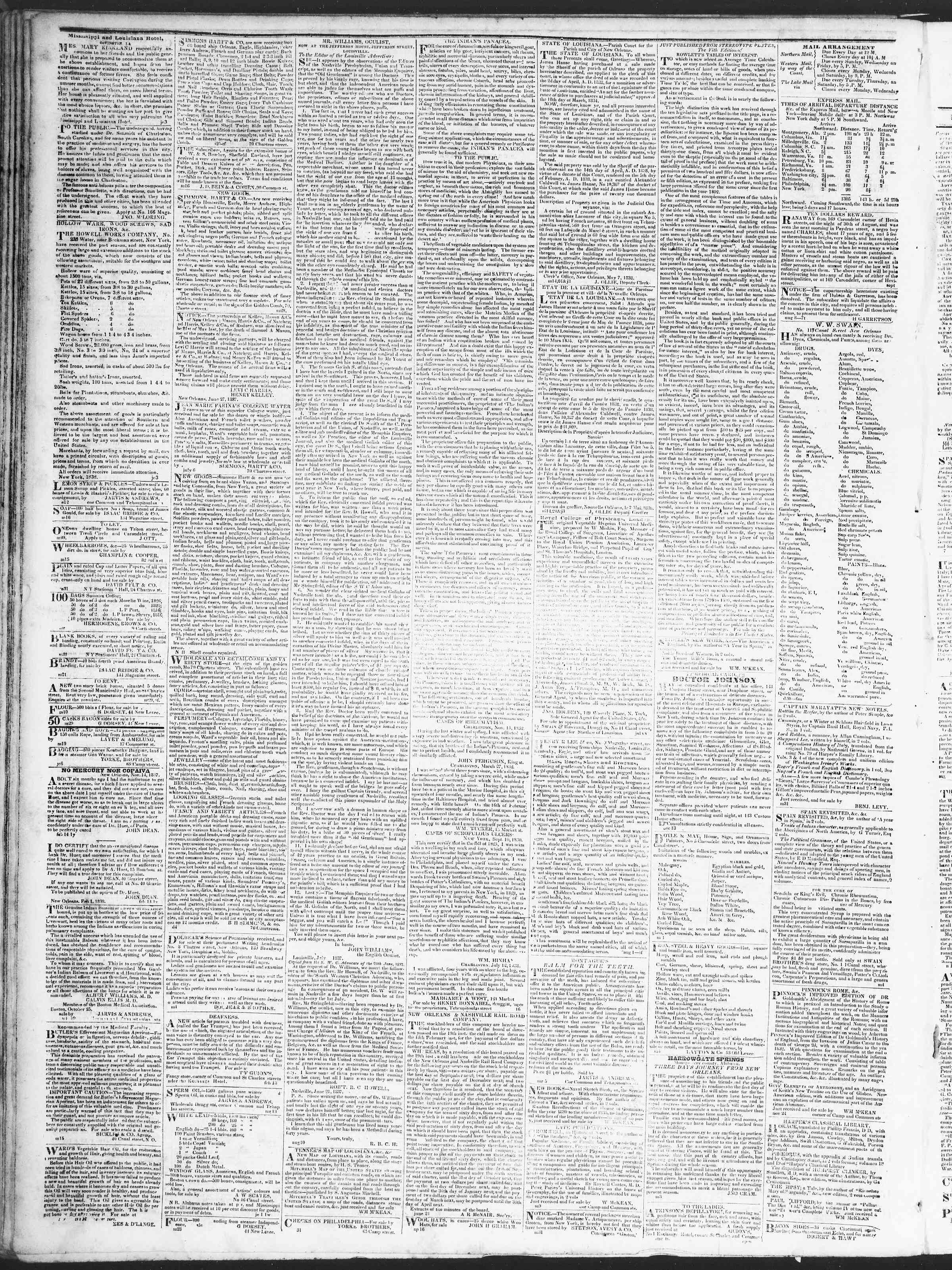 Newspaper of True American dated September 11, 1838 Page 4