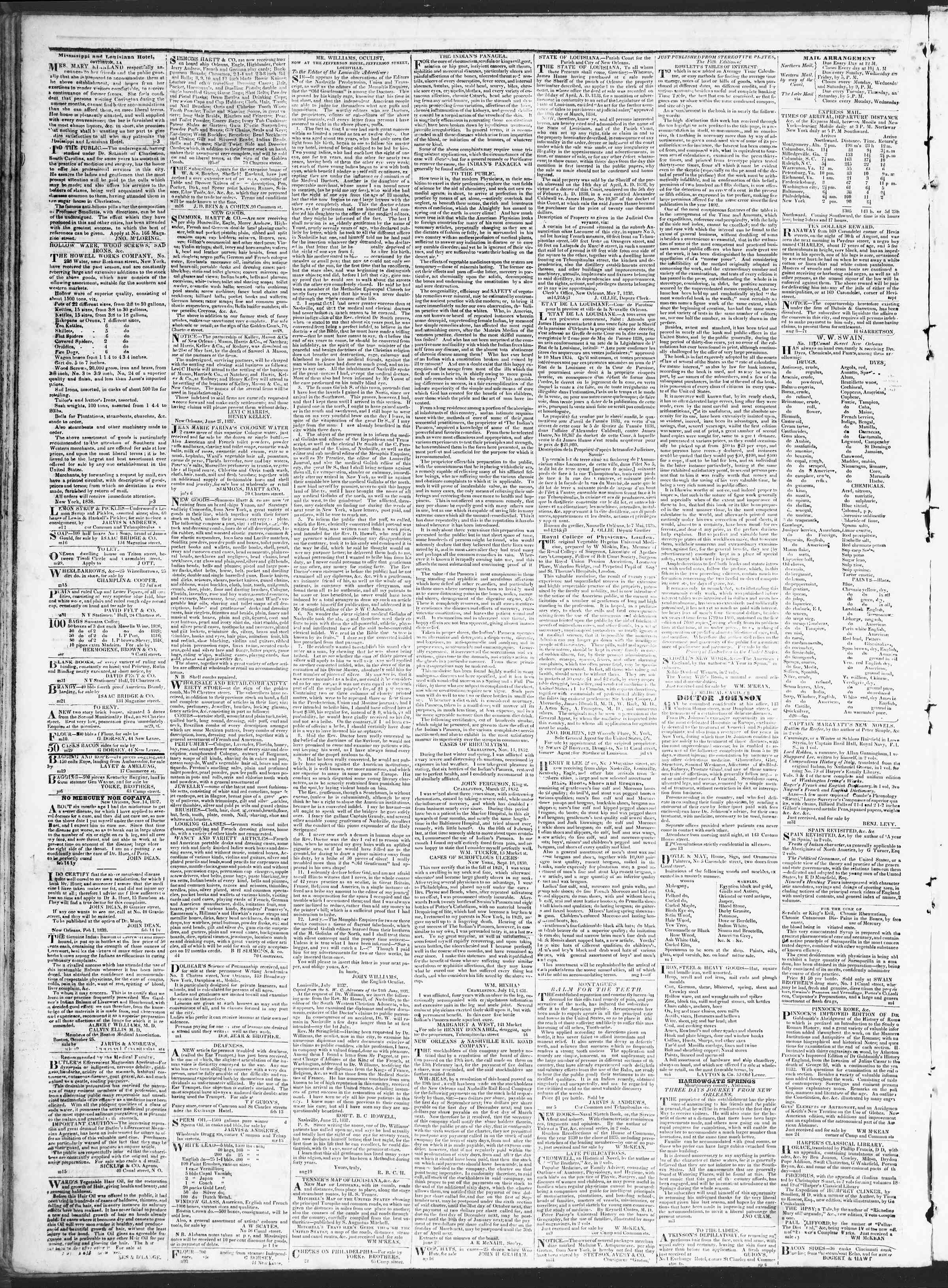Newspaper of True American dated September 13, 1838 Page 4