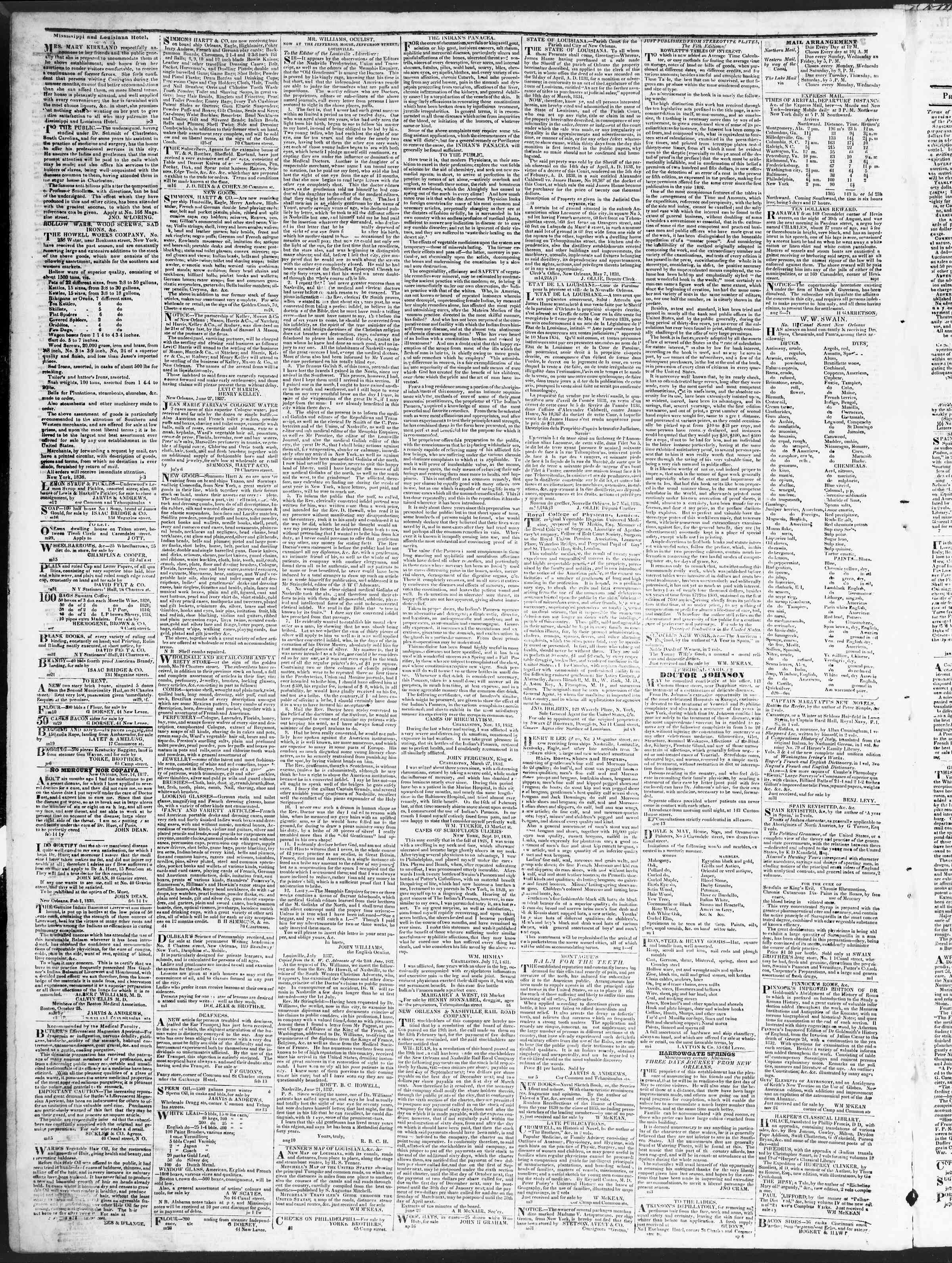 15 Eylül 1838 Tarihli True American Gazetesi Sayfa 4