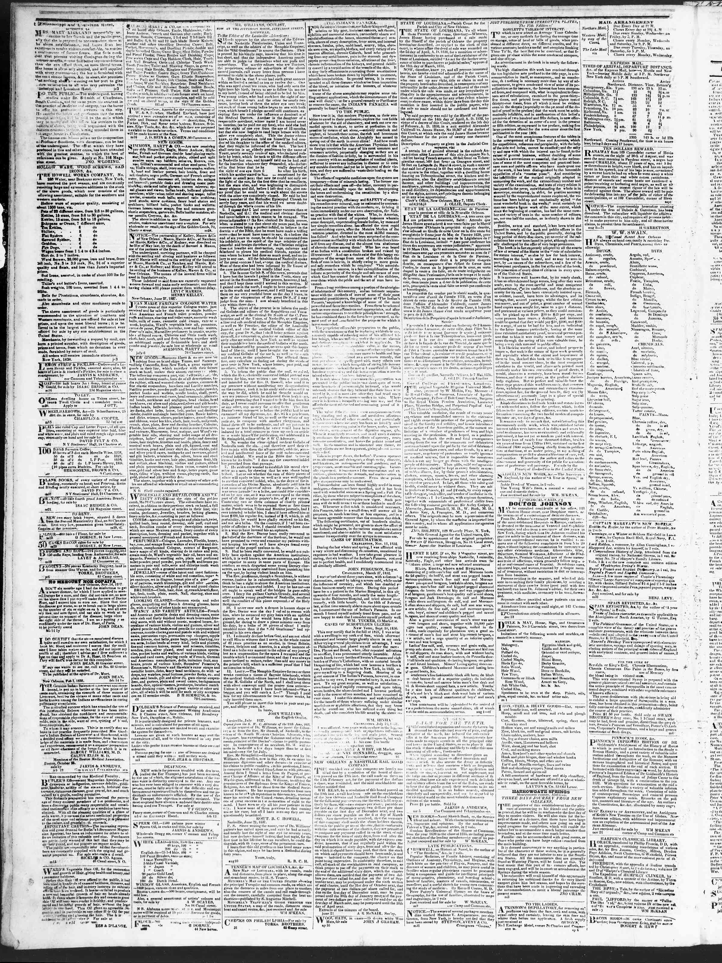 Newspaper of True American dated September 18, 1838 Page 4