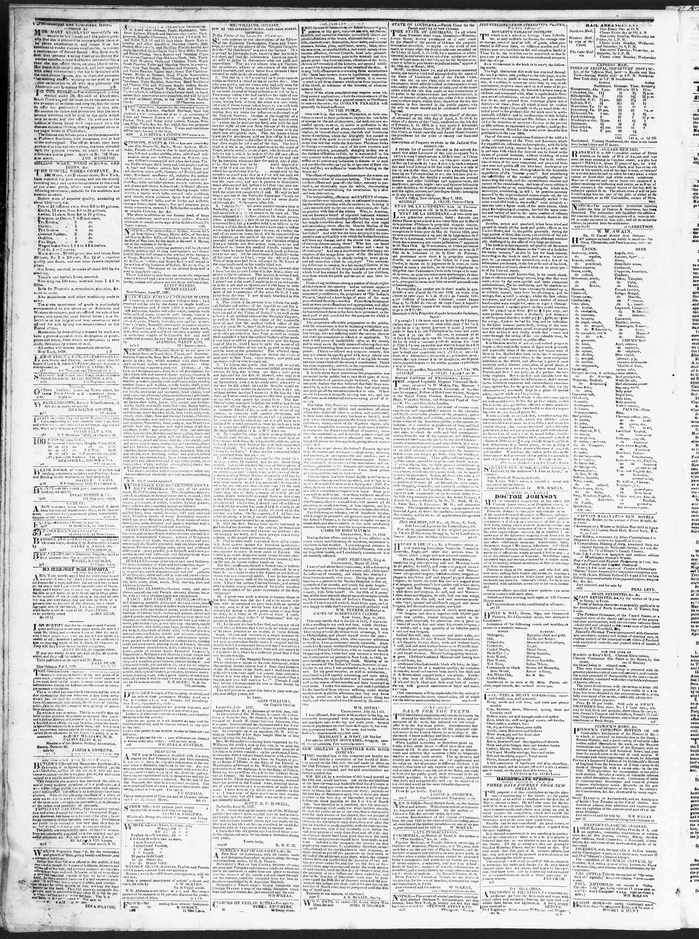 Newspaper of True American dated September 20, 1838 Page 4