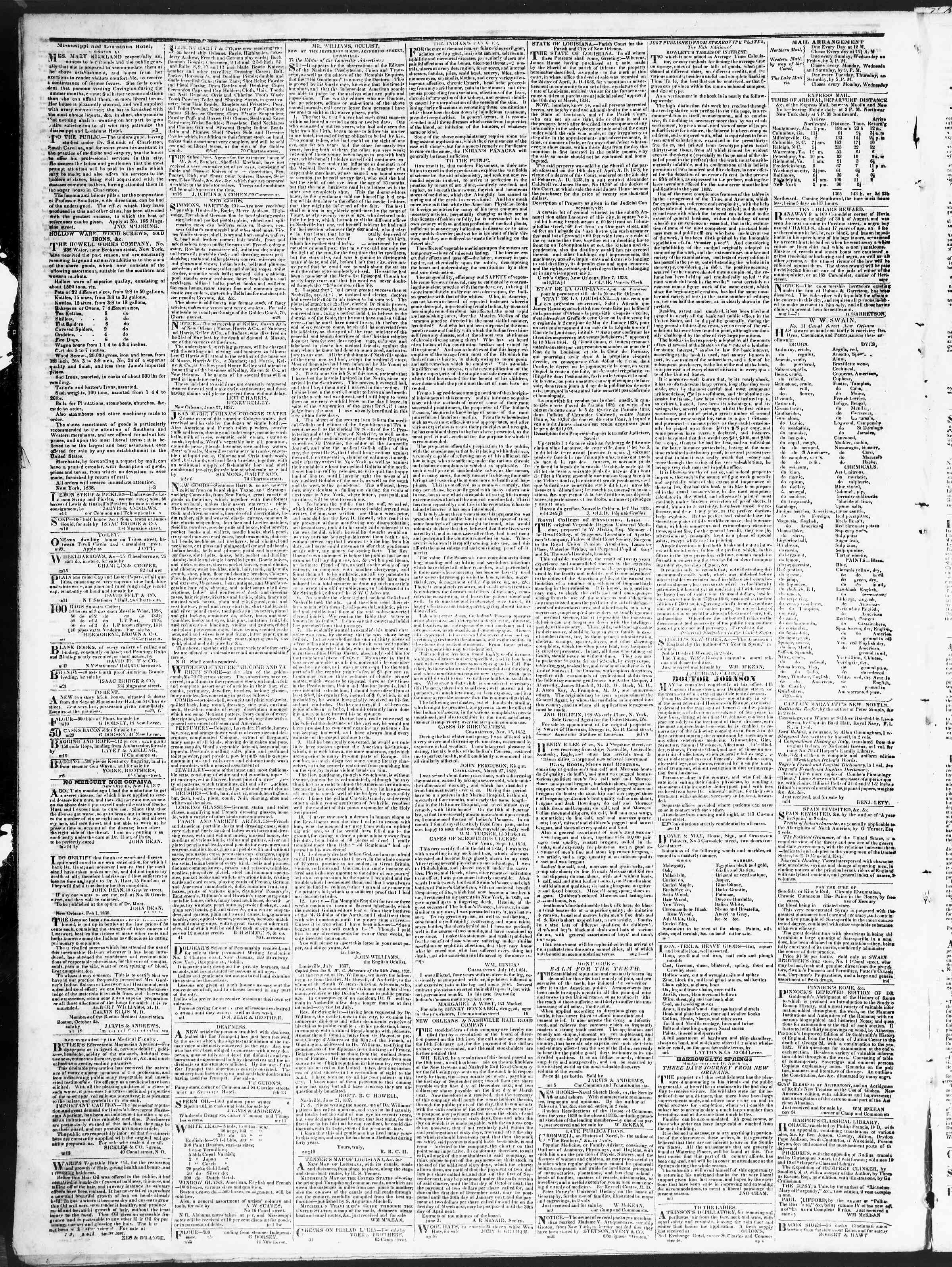 September 22, 1838 Tarihli True American Gazetesi Sayfa 4