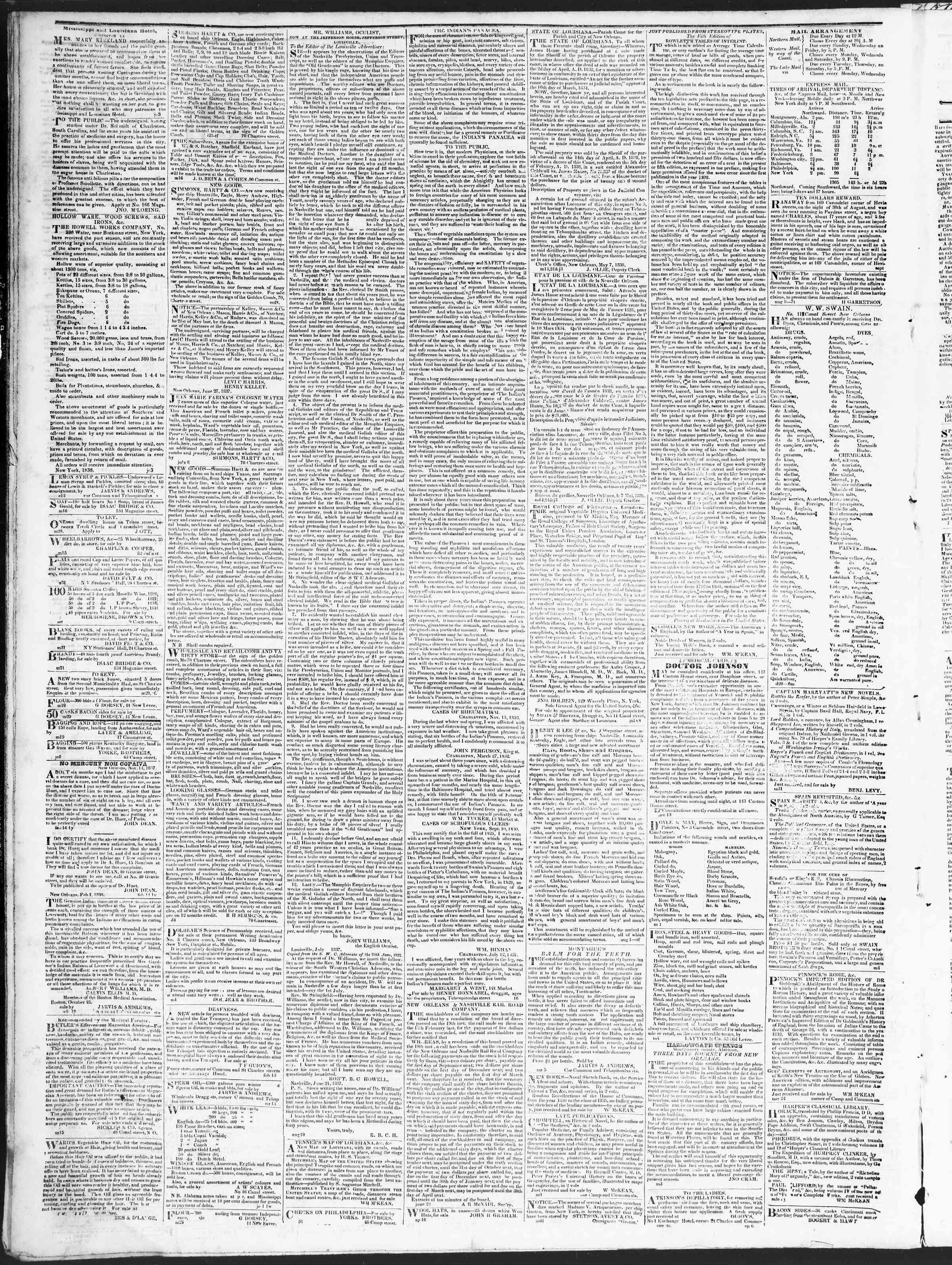 September 25, 1838 Tarihli True American Gazetesi Sayfa 4