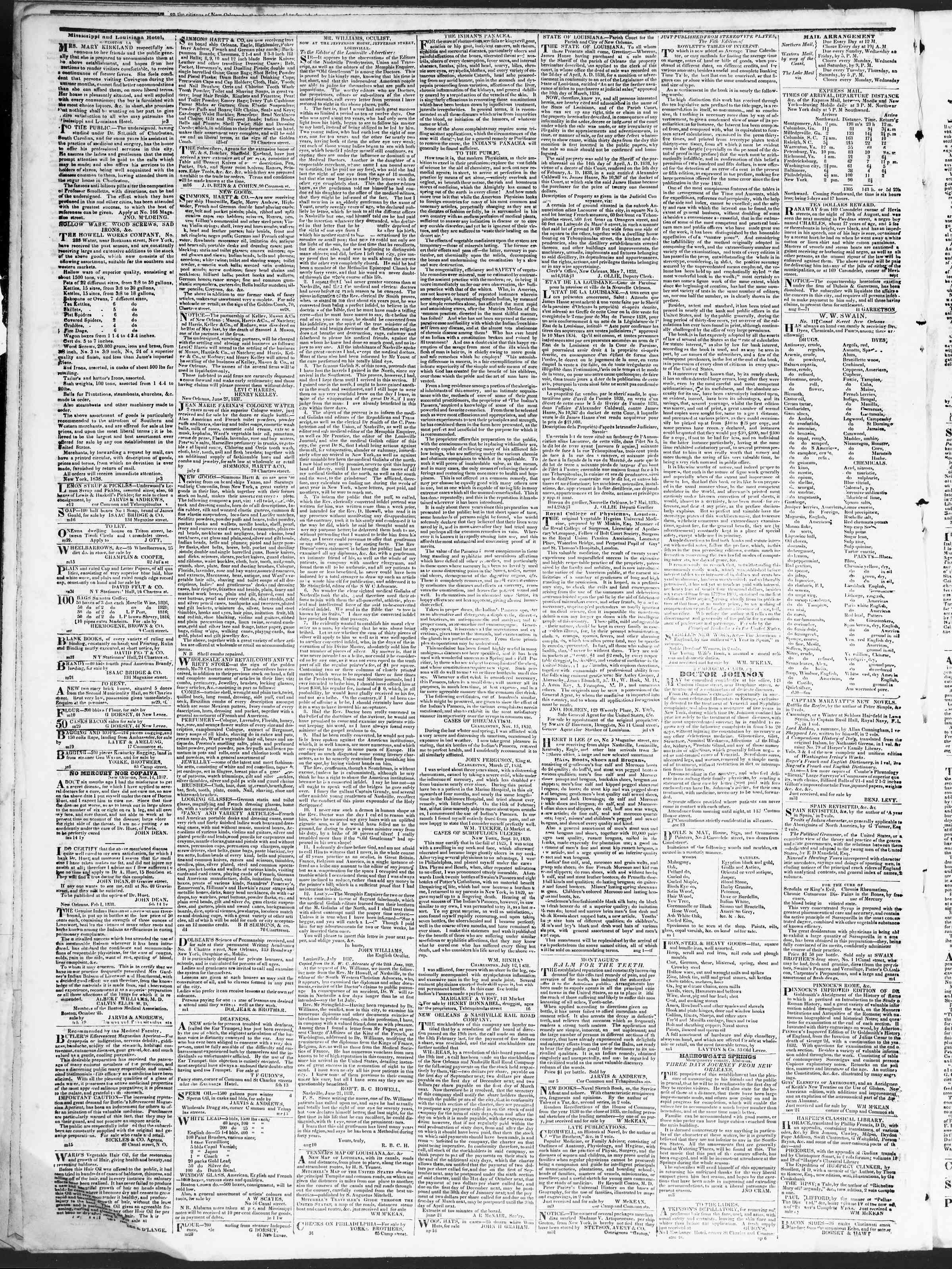 September 29, 1838 Tarihli True American Gazetesi Sayfa 4