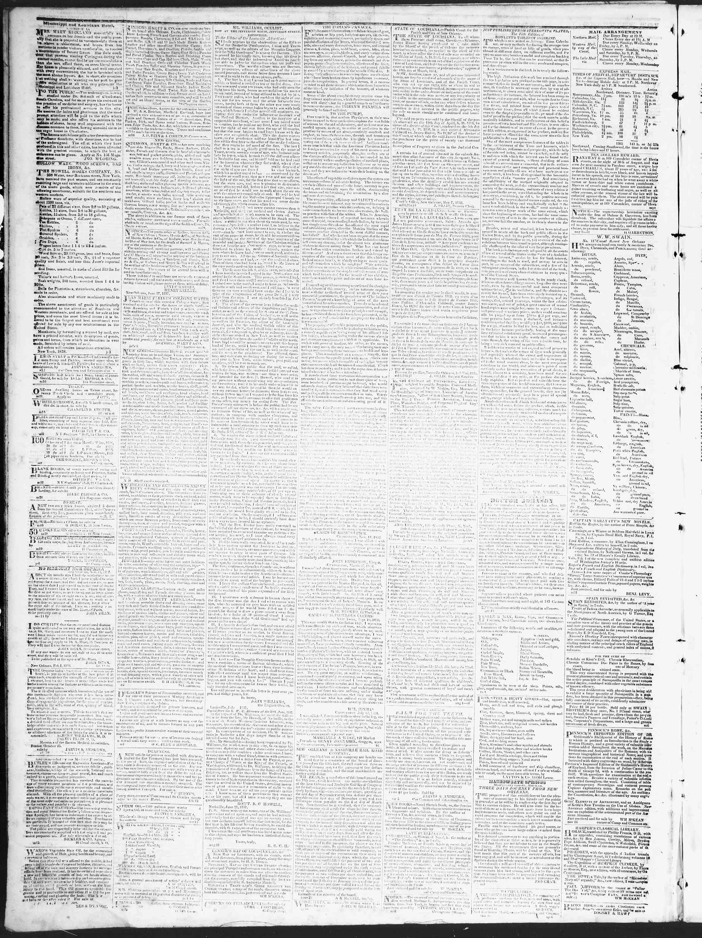 Newspaper of True American dated October 1, 1838 Page 4