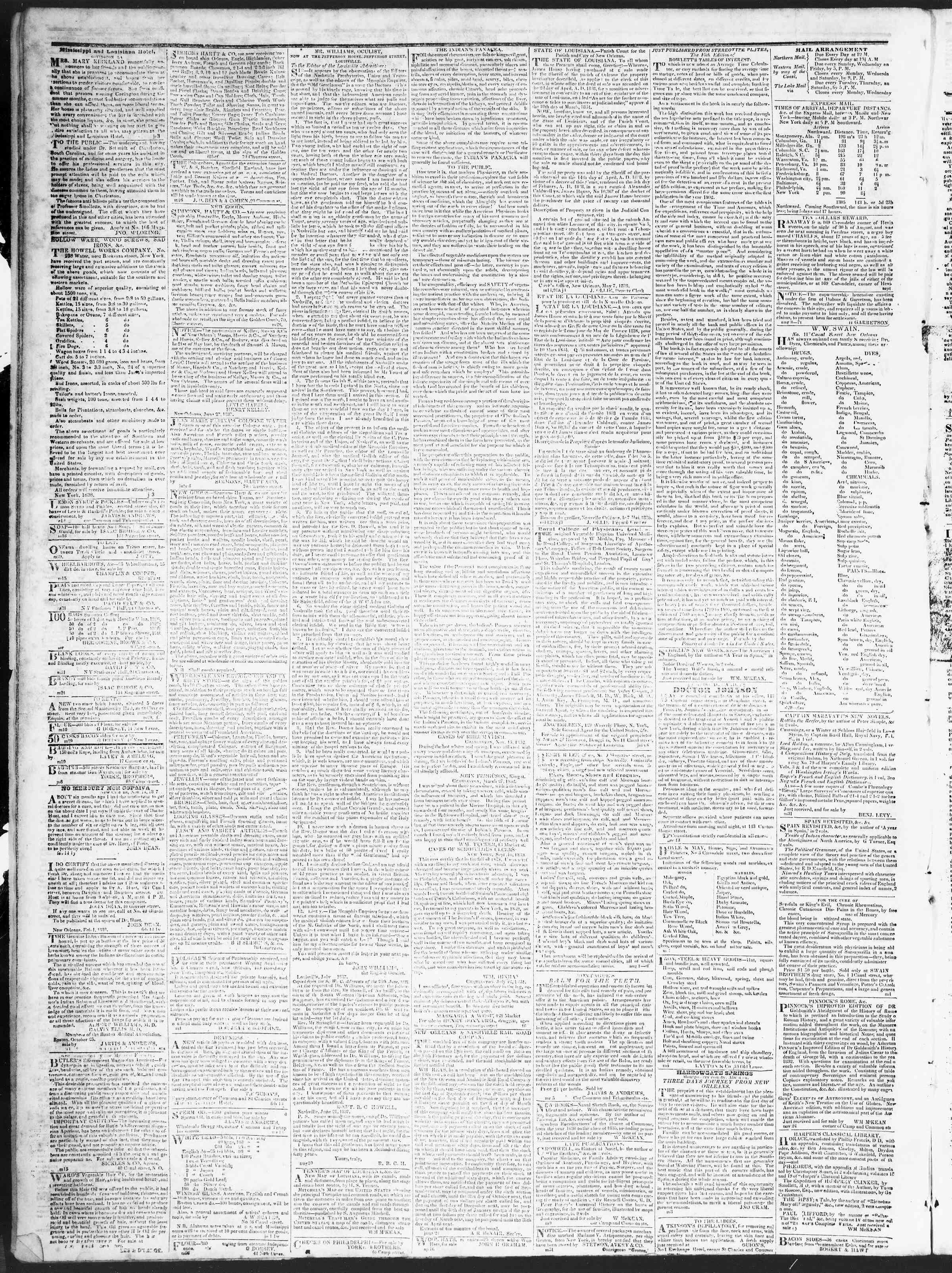 October 3, 1838 Tarihli True American Gazetesi Sayfa 4