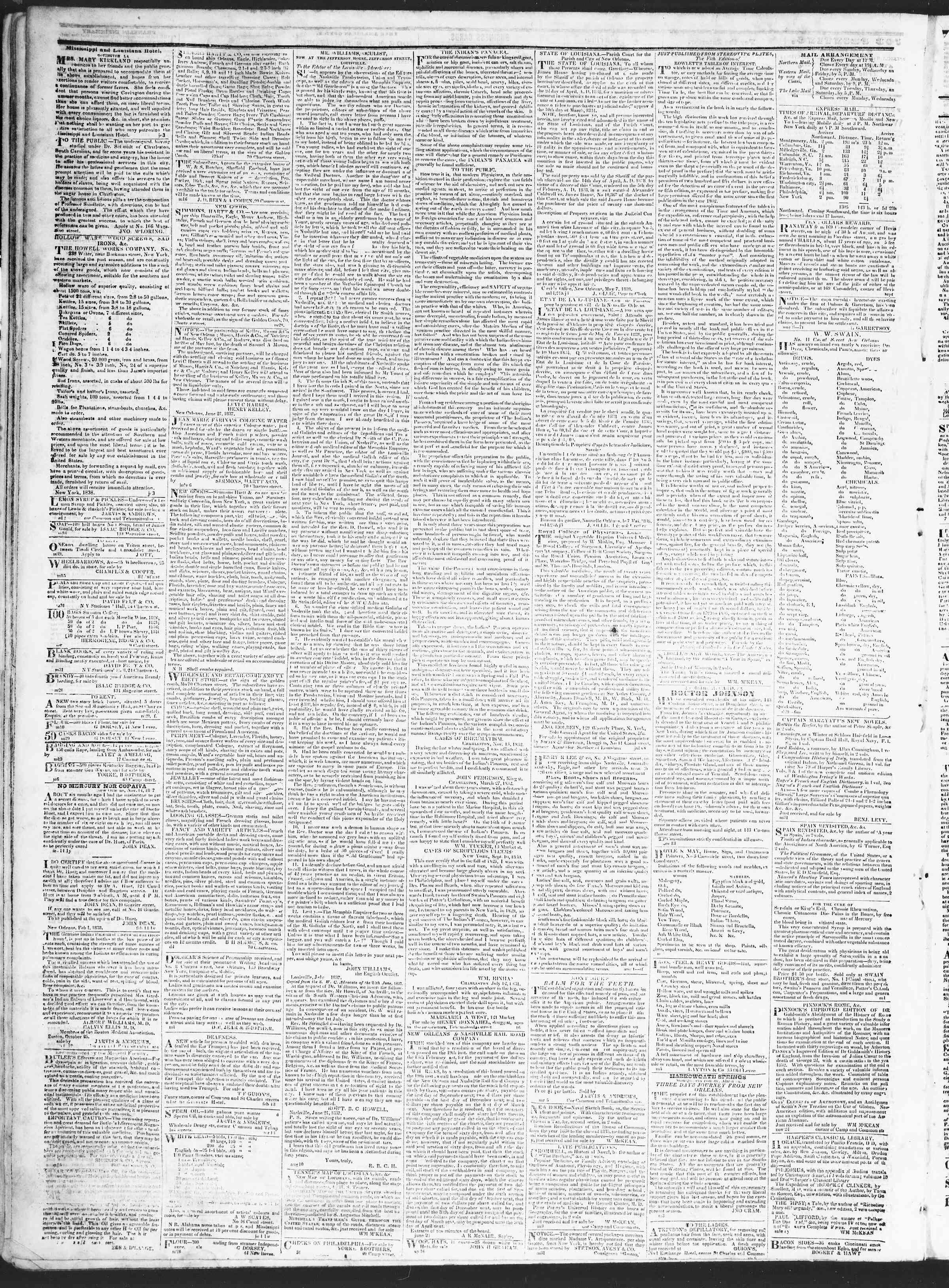October 5, 1838 Tarihli True American Gazetesi Sayfa 4