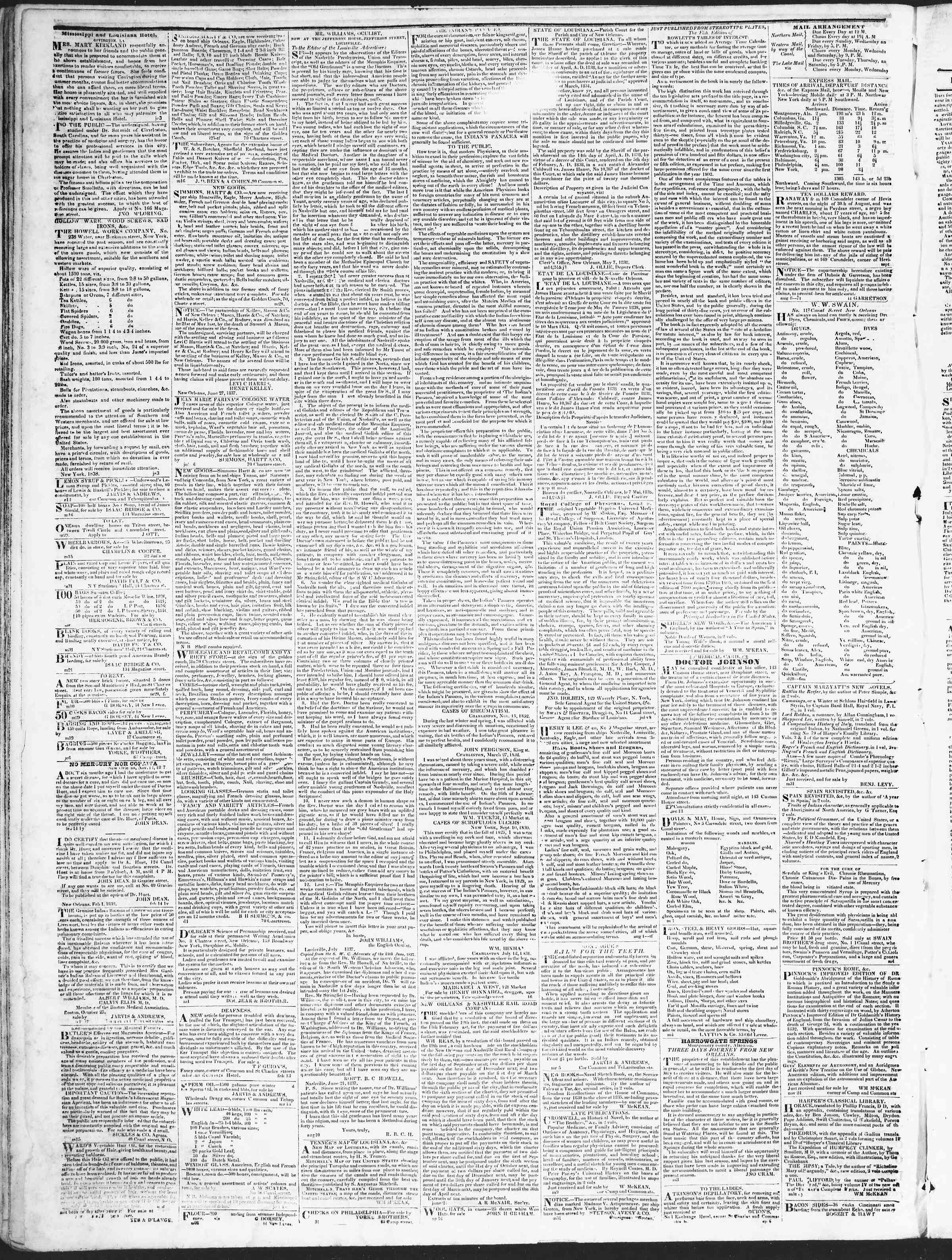Newspaper of True American dated October 9, 1838 Page 4