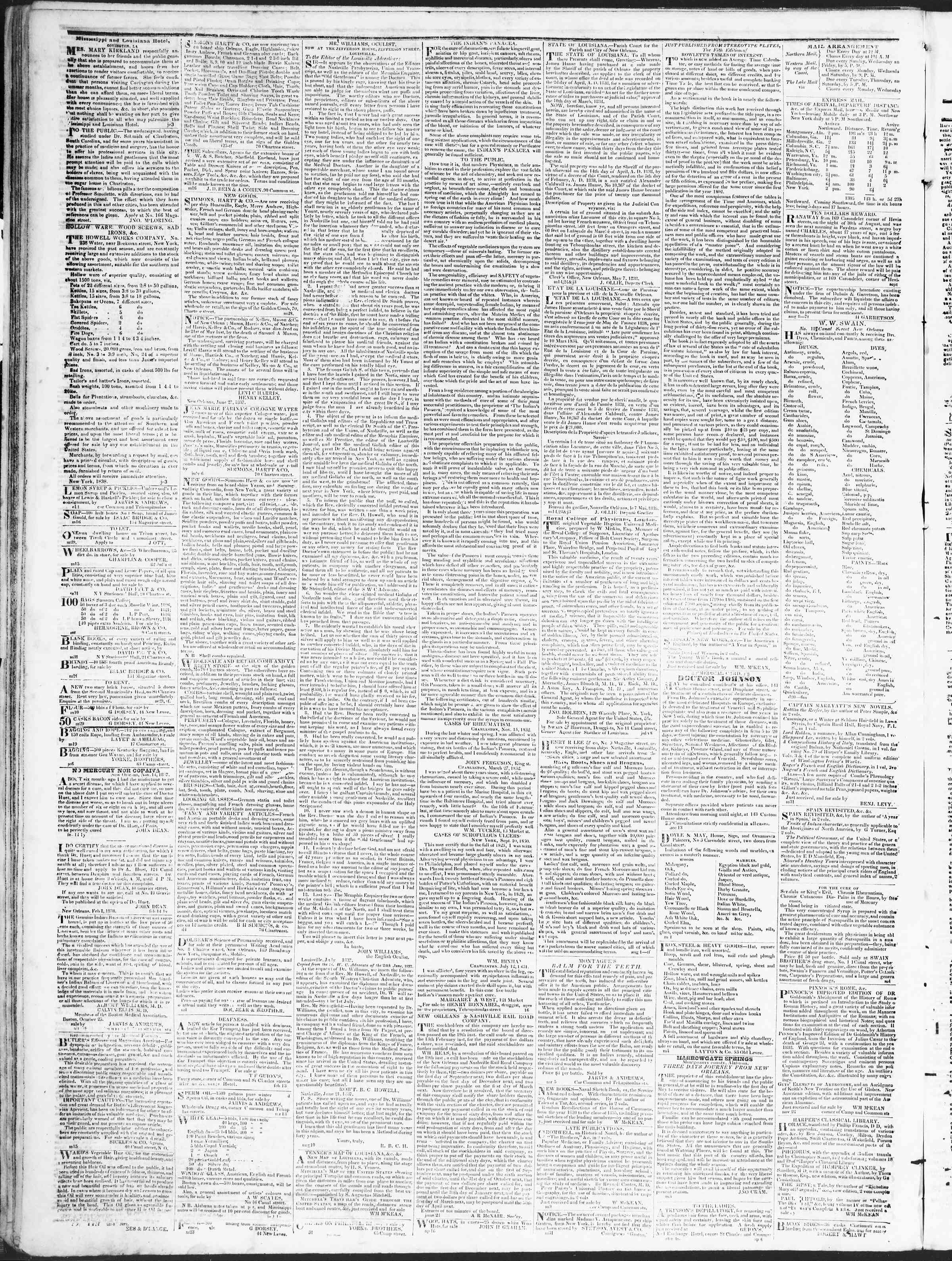 Newspaper of True American dated October 11, 1838 Page 4