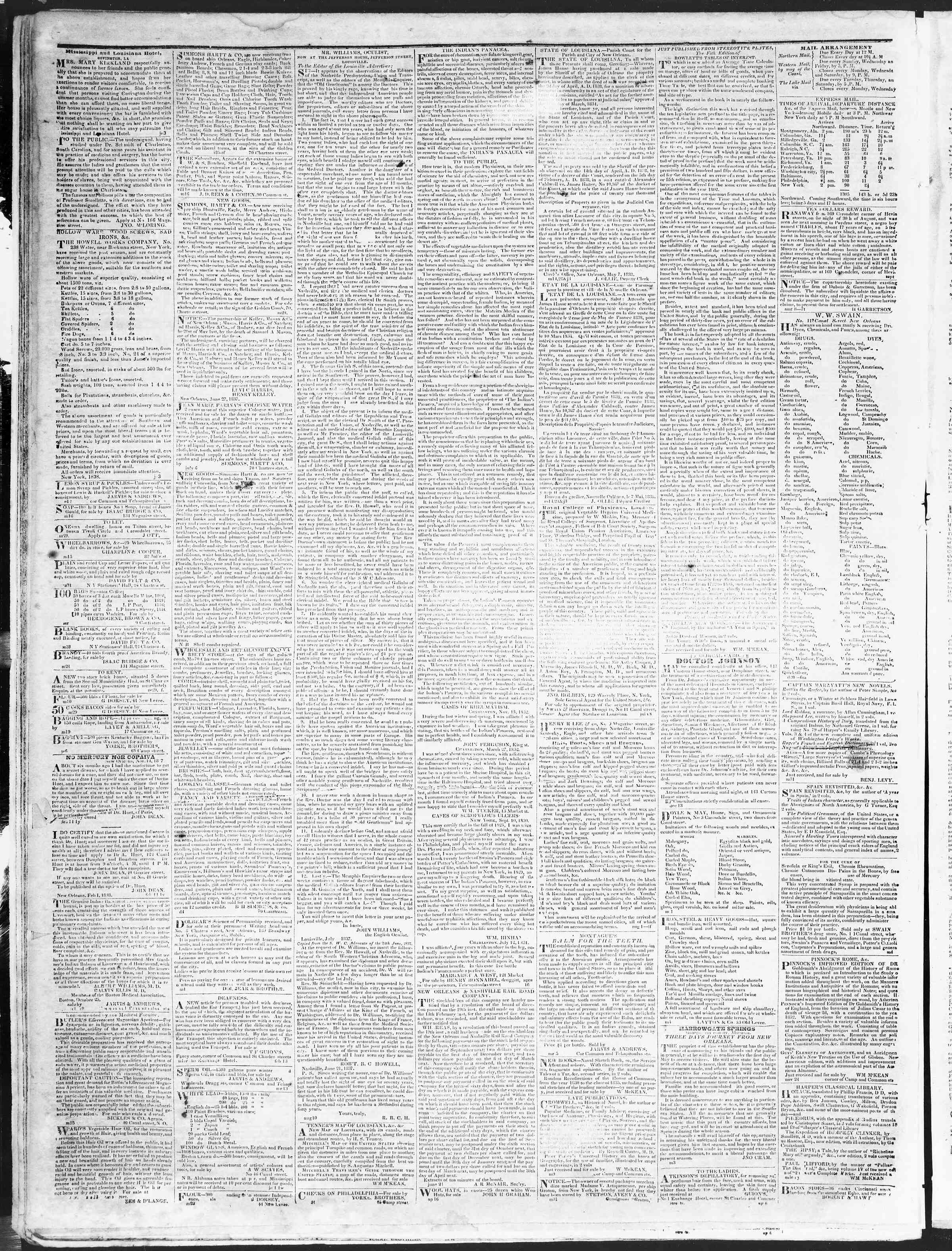 Newspaper of True American dated October 15, 1838 Page 4