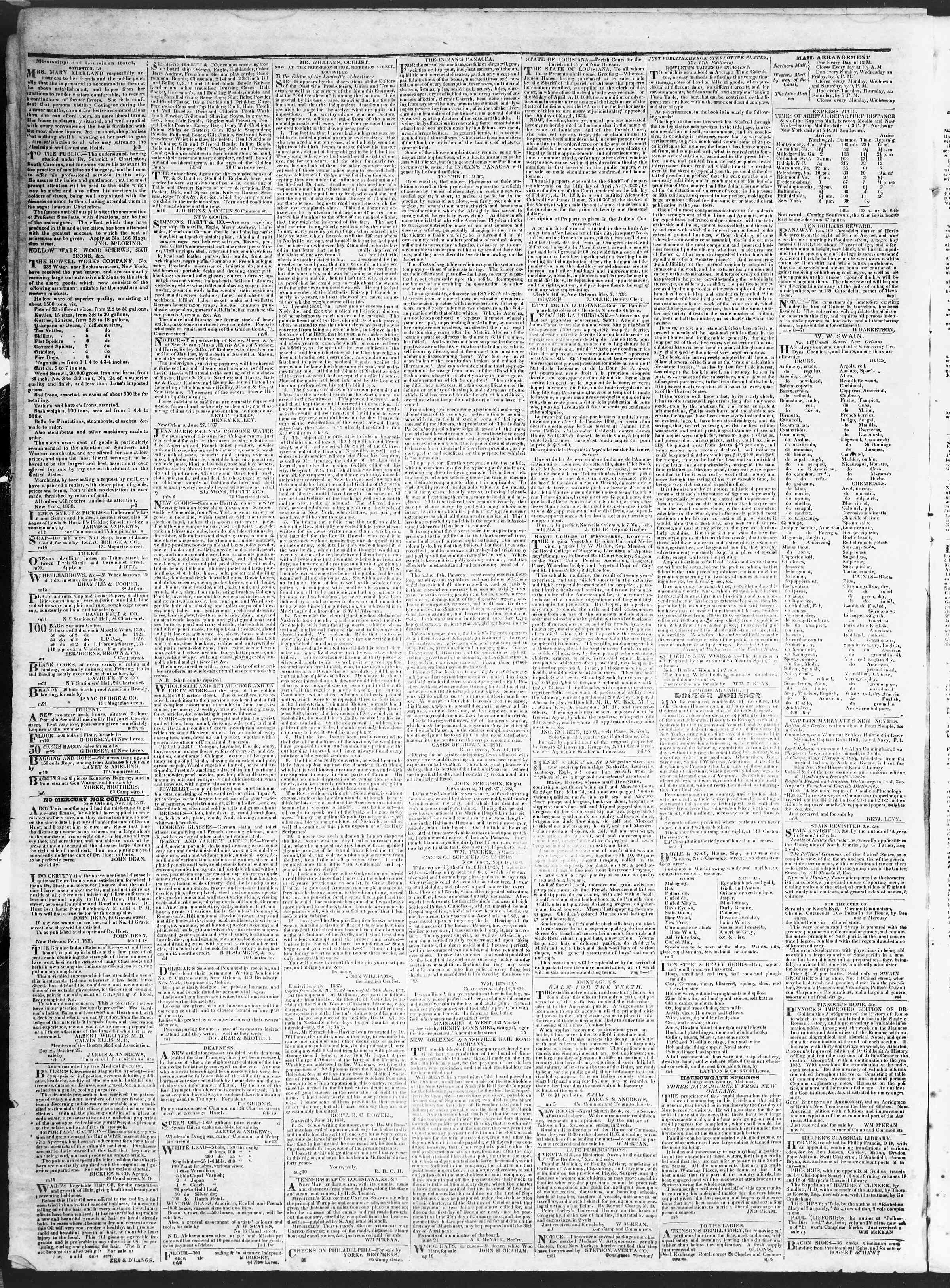 October 17, 1838 Tarihli True American Gazetesi Sayfa 4