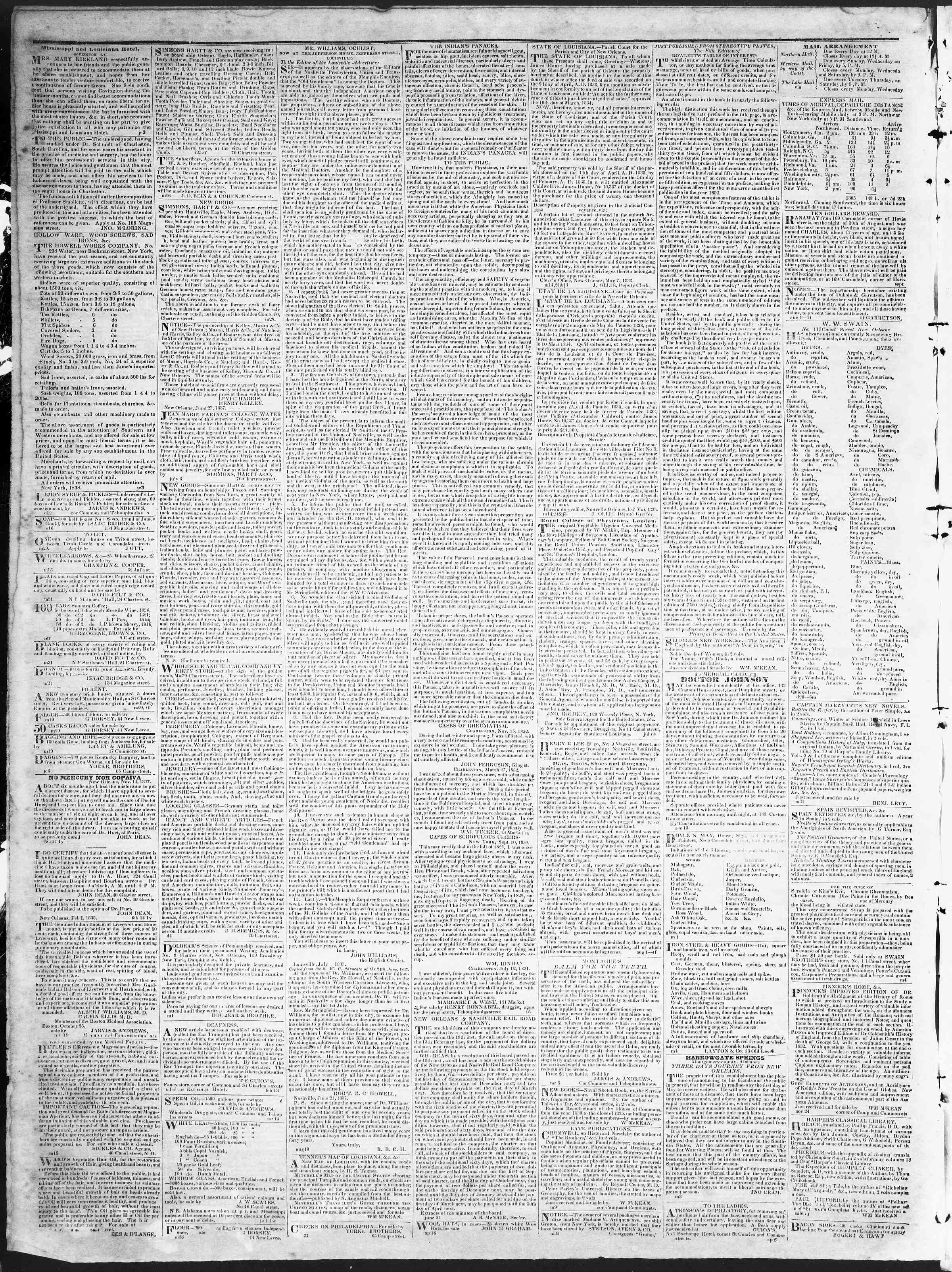 October 31, 1838 Tarihli True American Gazetesi Sayfa 4