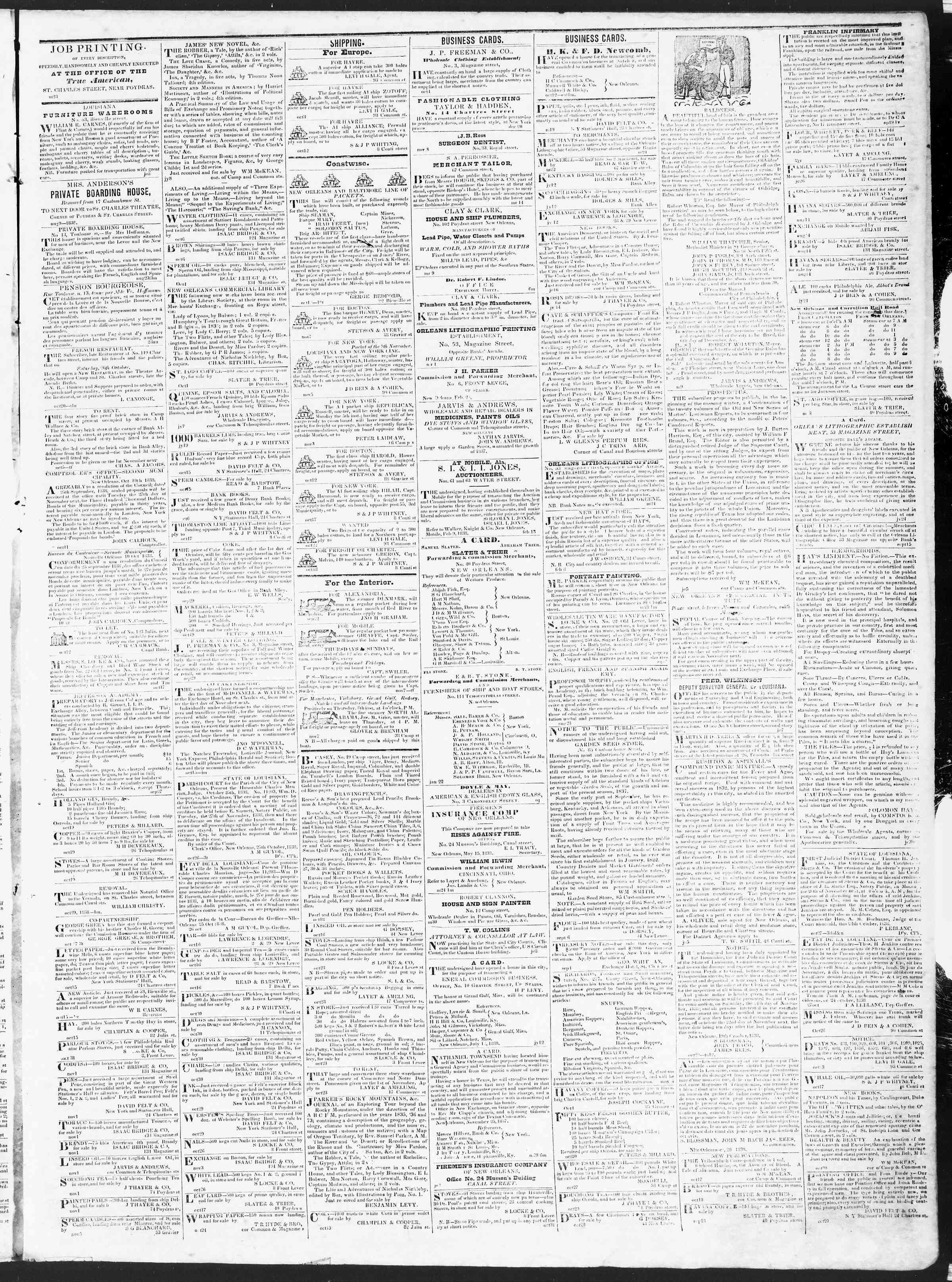 November 8, 1838 Tarihli True American Gazetesi Sayfa 3