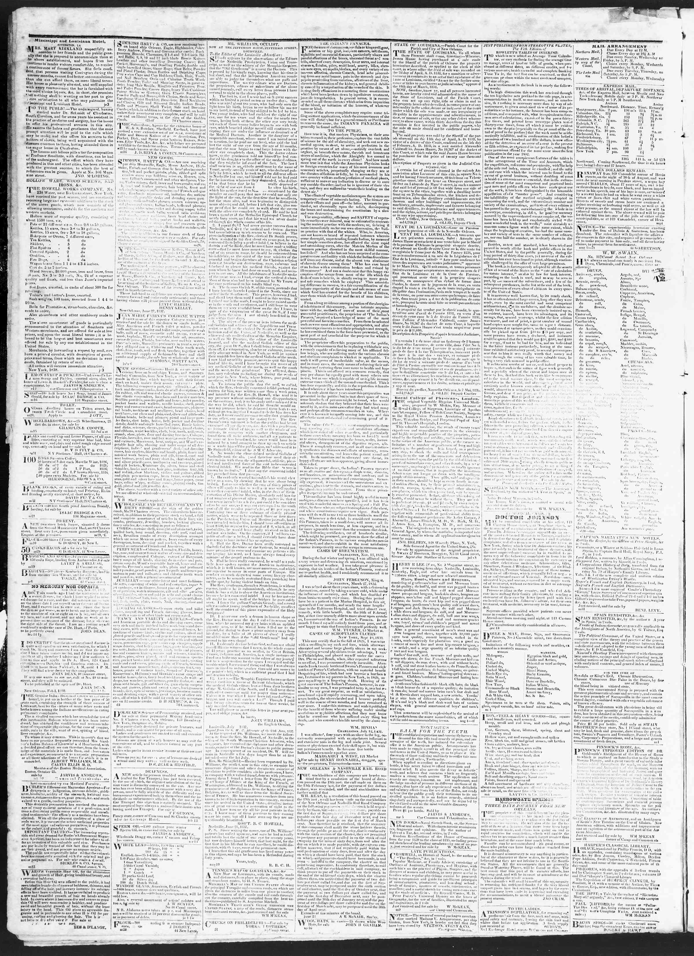 Newspaper of True American dated November 9, 1838 Page 4