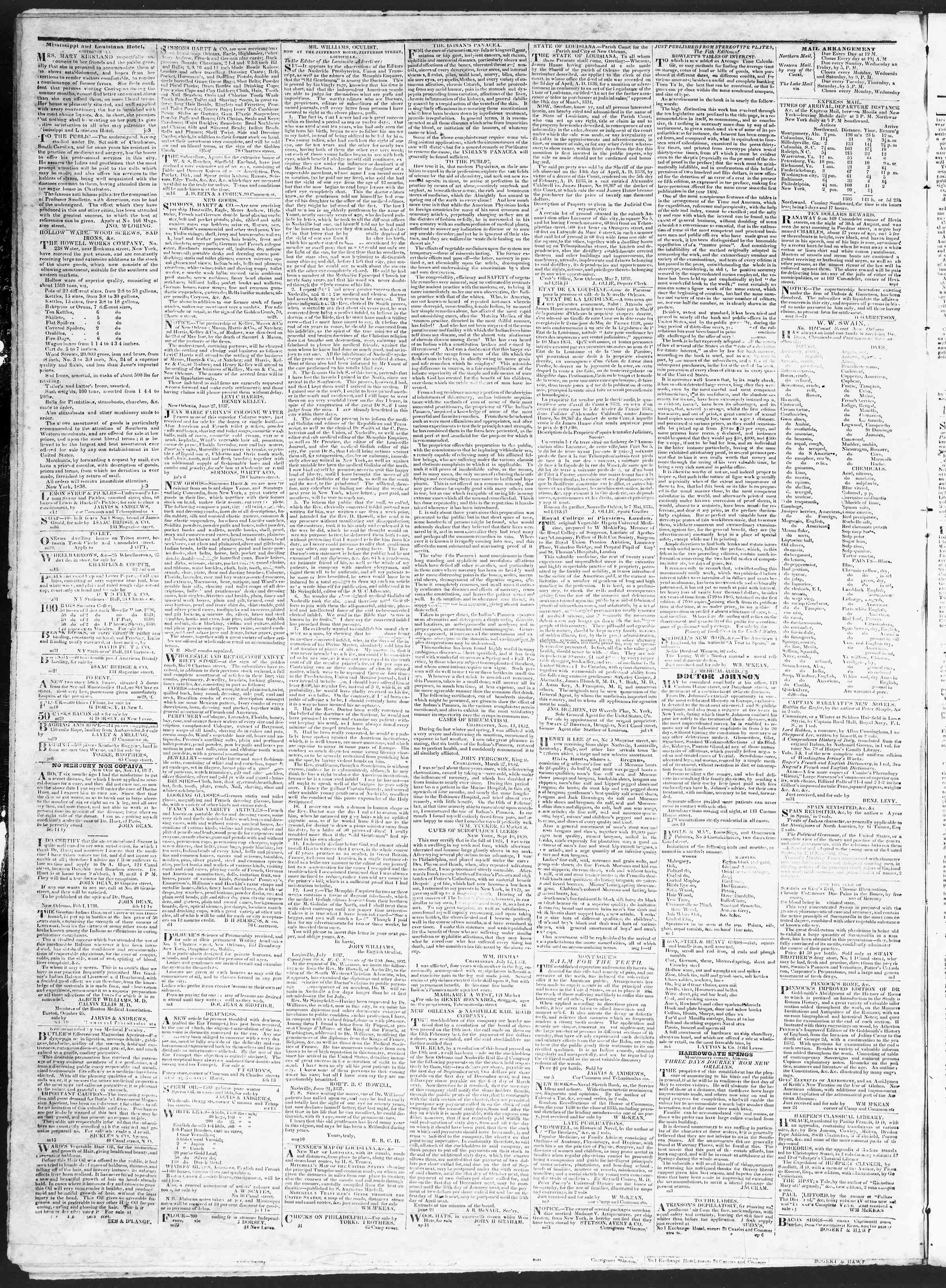 Newspaper of True American dated November 10, 1838 Page 4