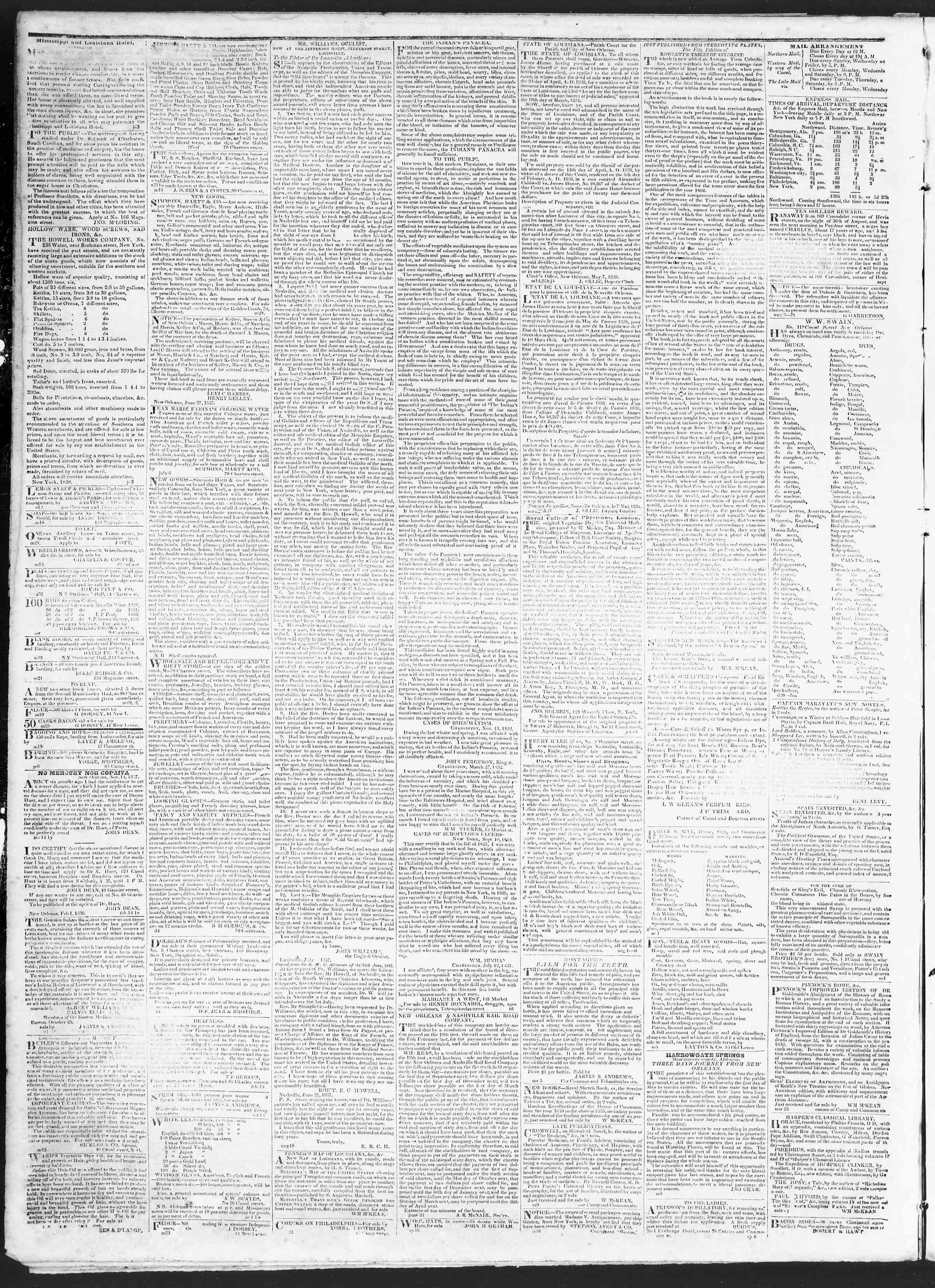 November 12, 1838 Tarihli True American Gazetesi Sayfa 4