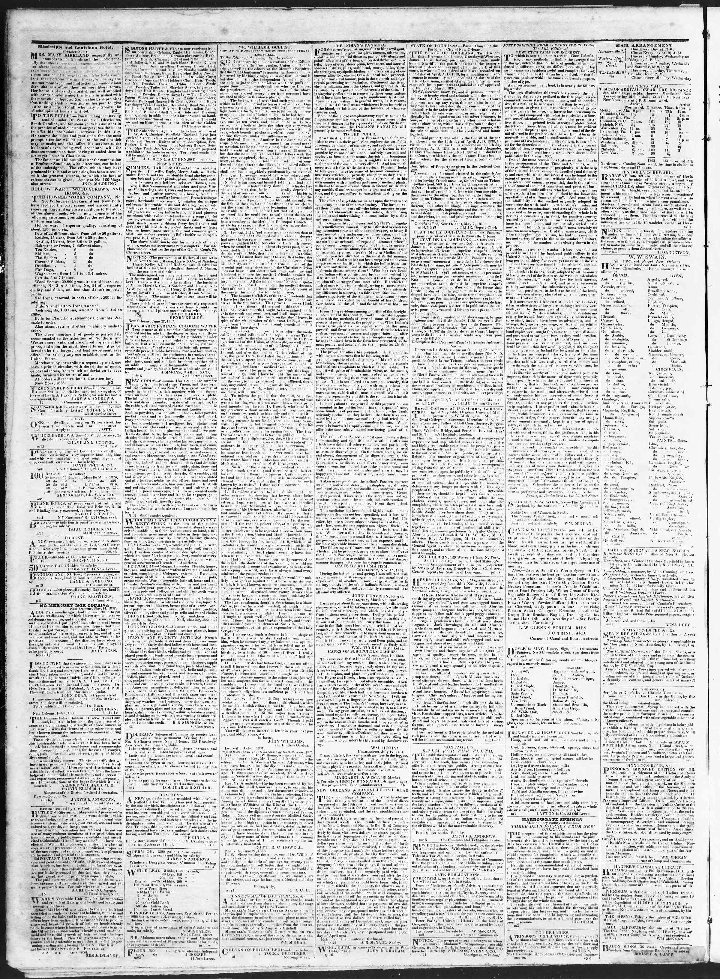 November 13, 1838 Tarihli True American Gazetesi Sayfa 4