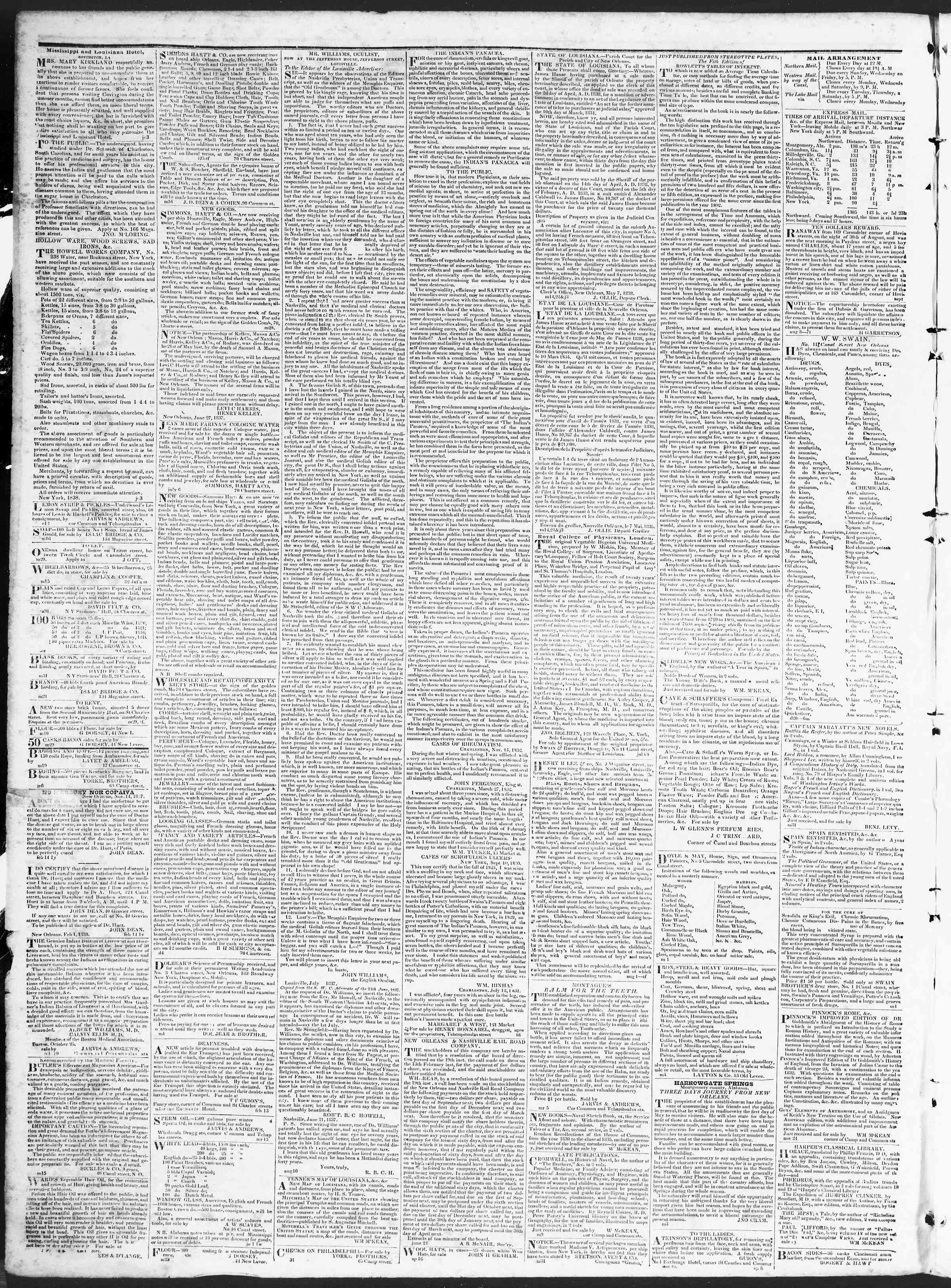 Newspaper of True American dated November 16, 1838 Page 4