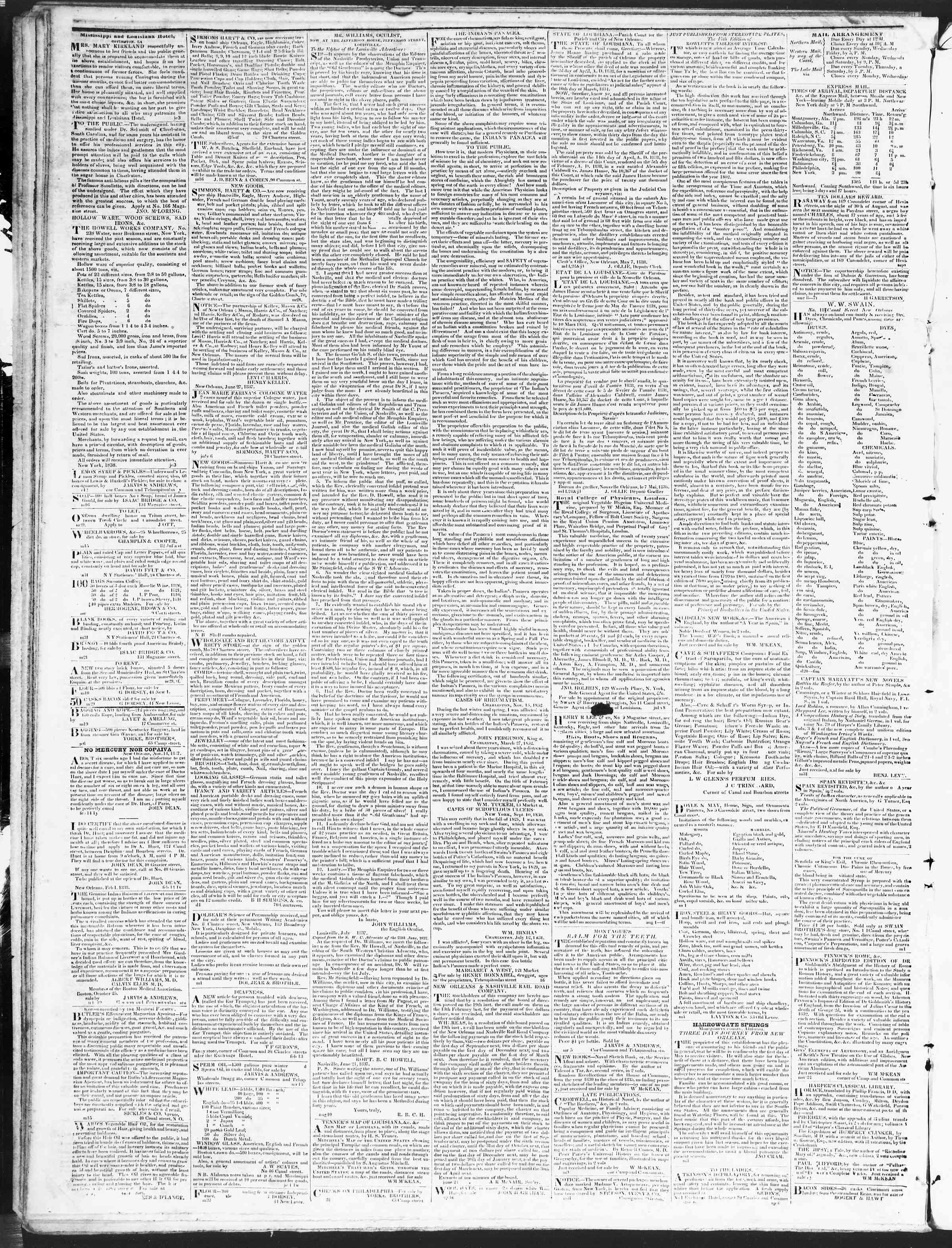 Newspaper of True American dated November 29, 1838 Page 4