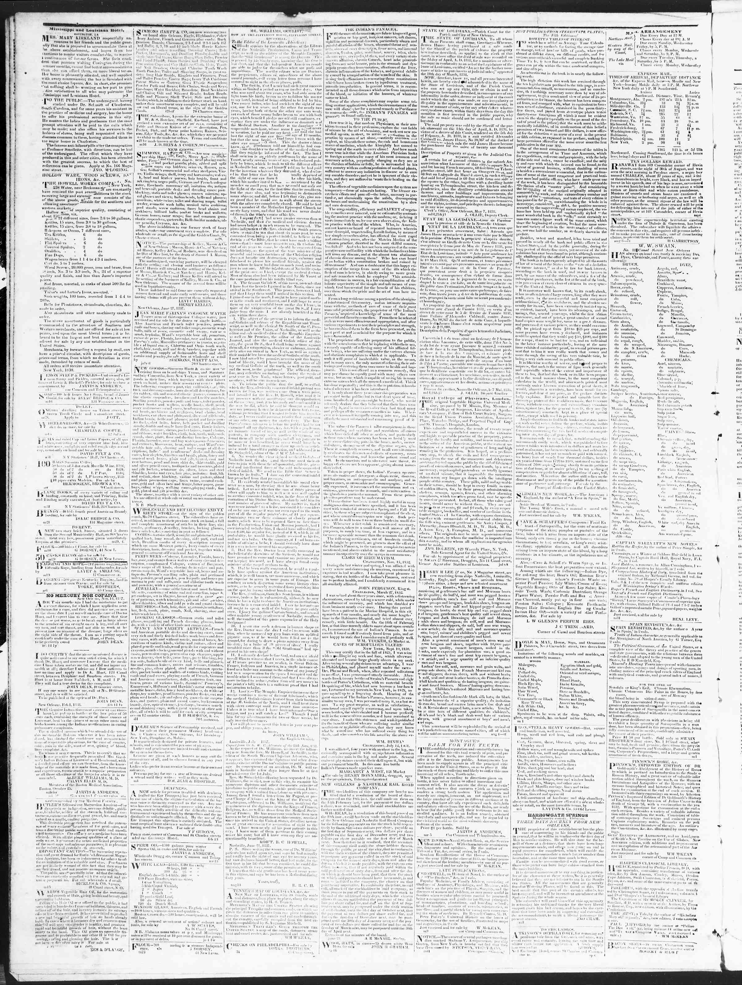Newspaper of True American dated December 3, 1838 Page 4