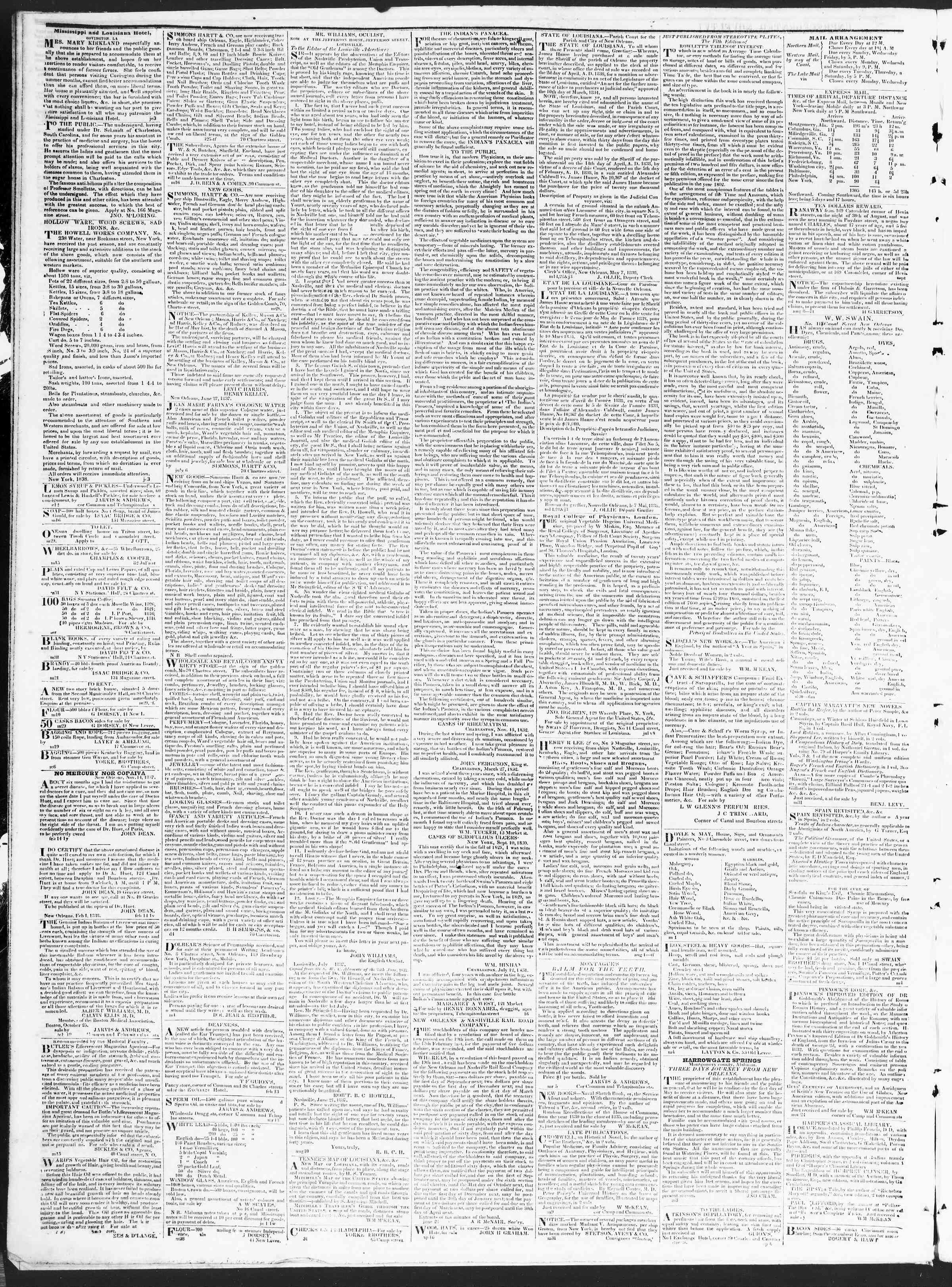 December 5, 1838 Tarihli True American Gazetesi Sayfa 4