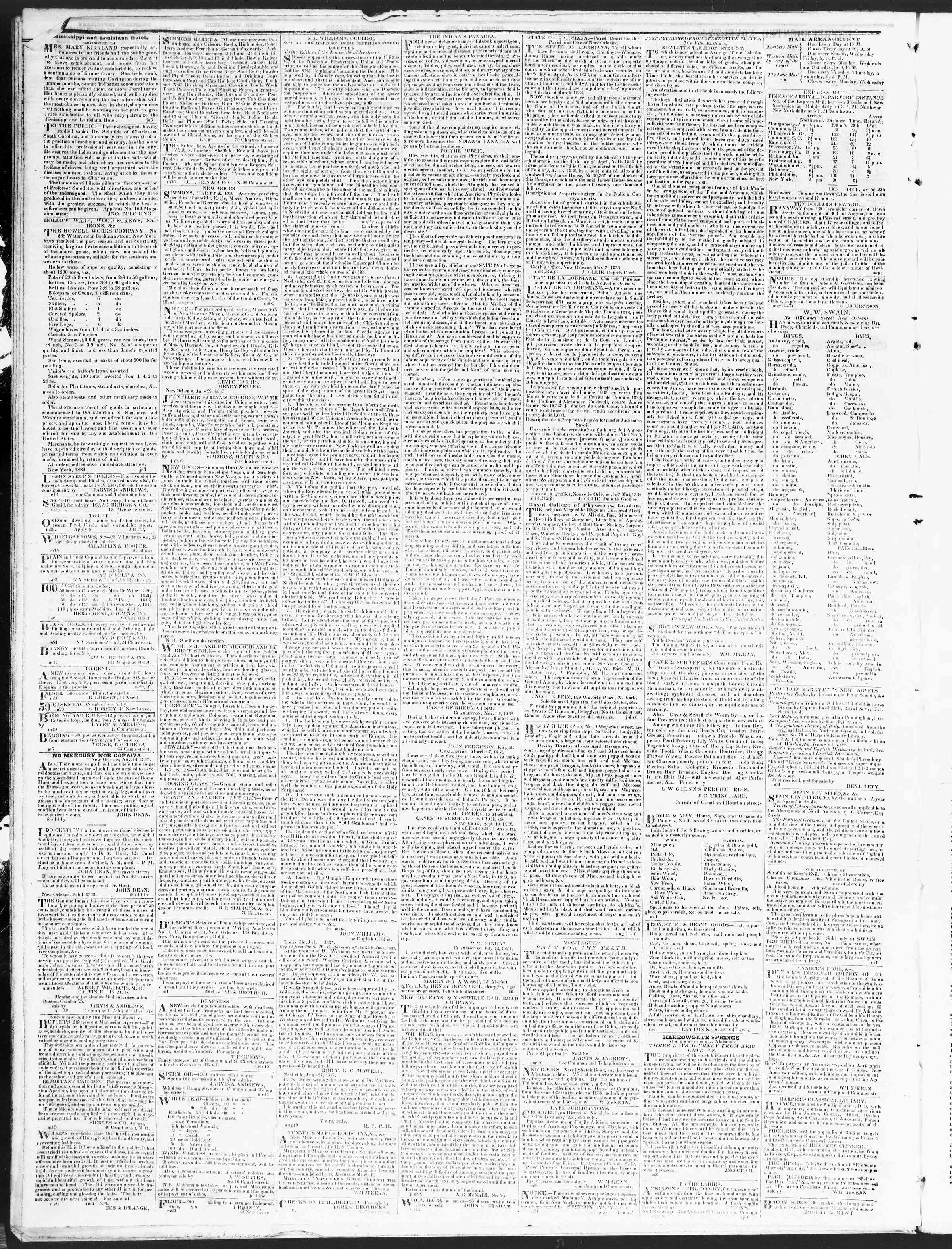 Newspaper of True American dated December 6, 1838 Page 4