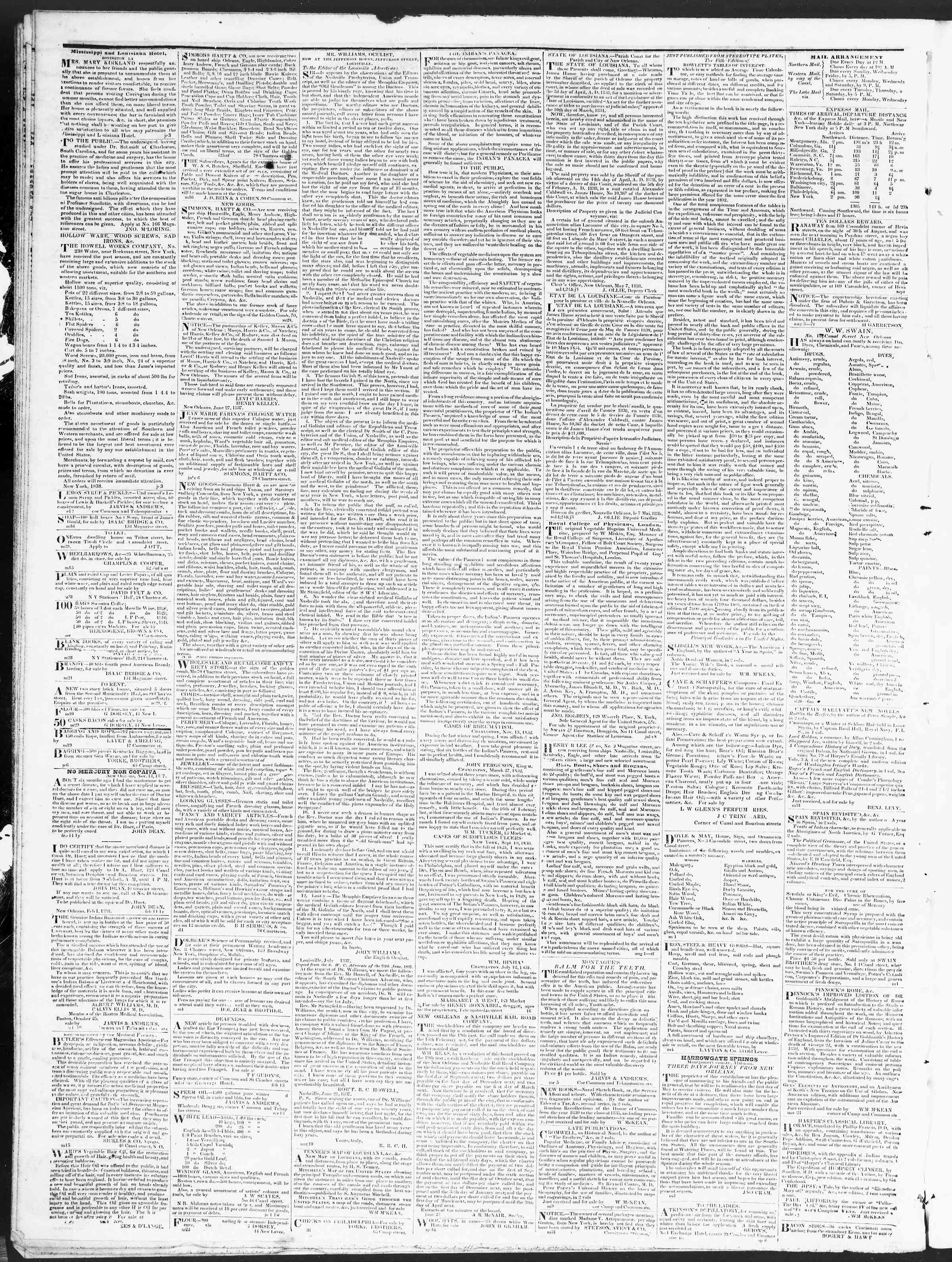 Newspaper of True American dated December 7, 1838 Page 4