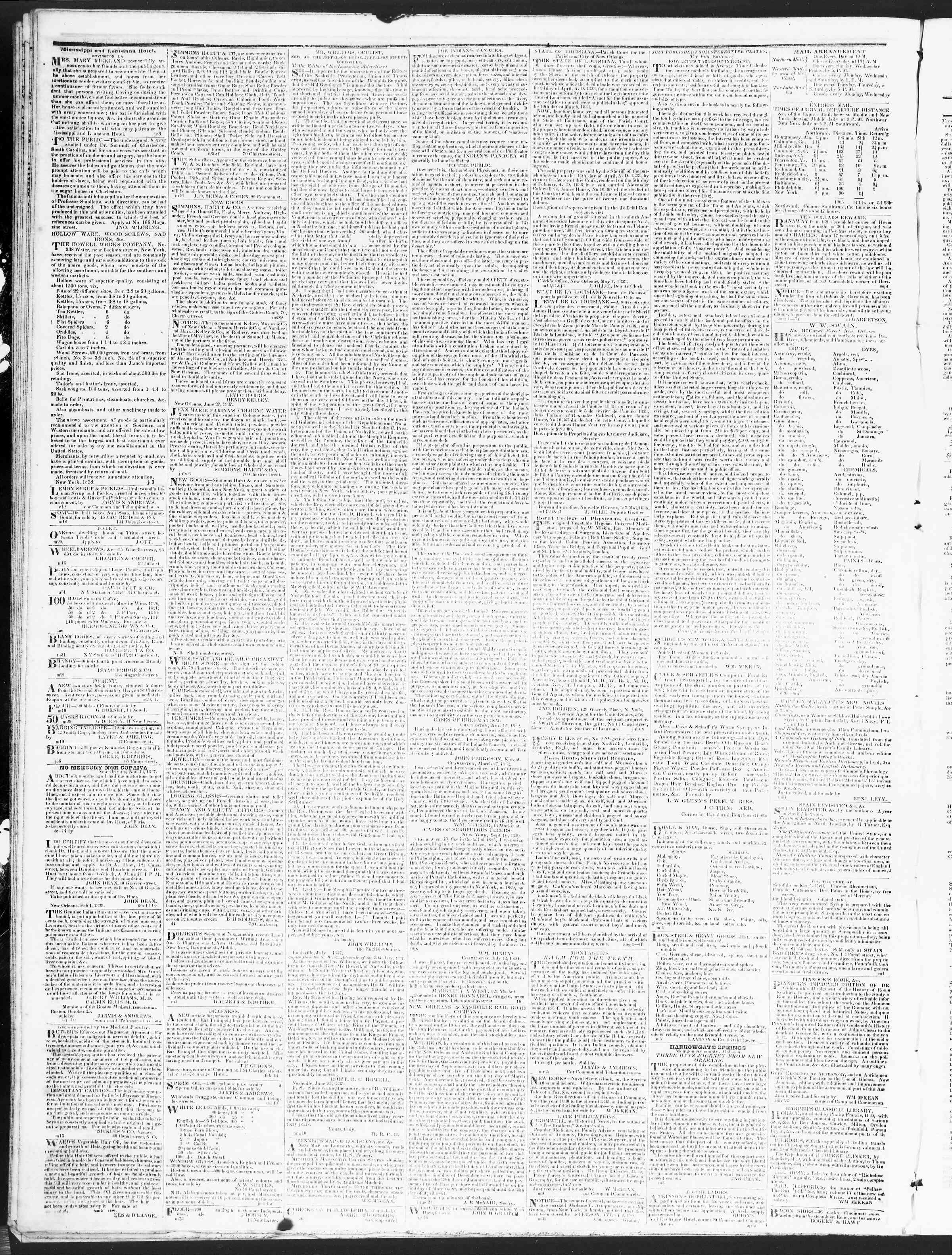 December 8, 1838 Tarihli True American Gazetesi Sayfa 4